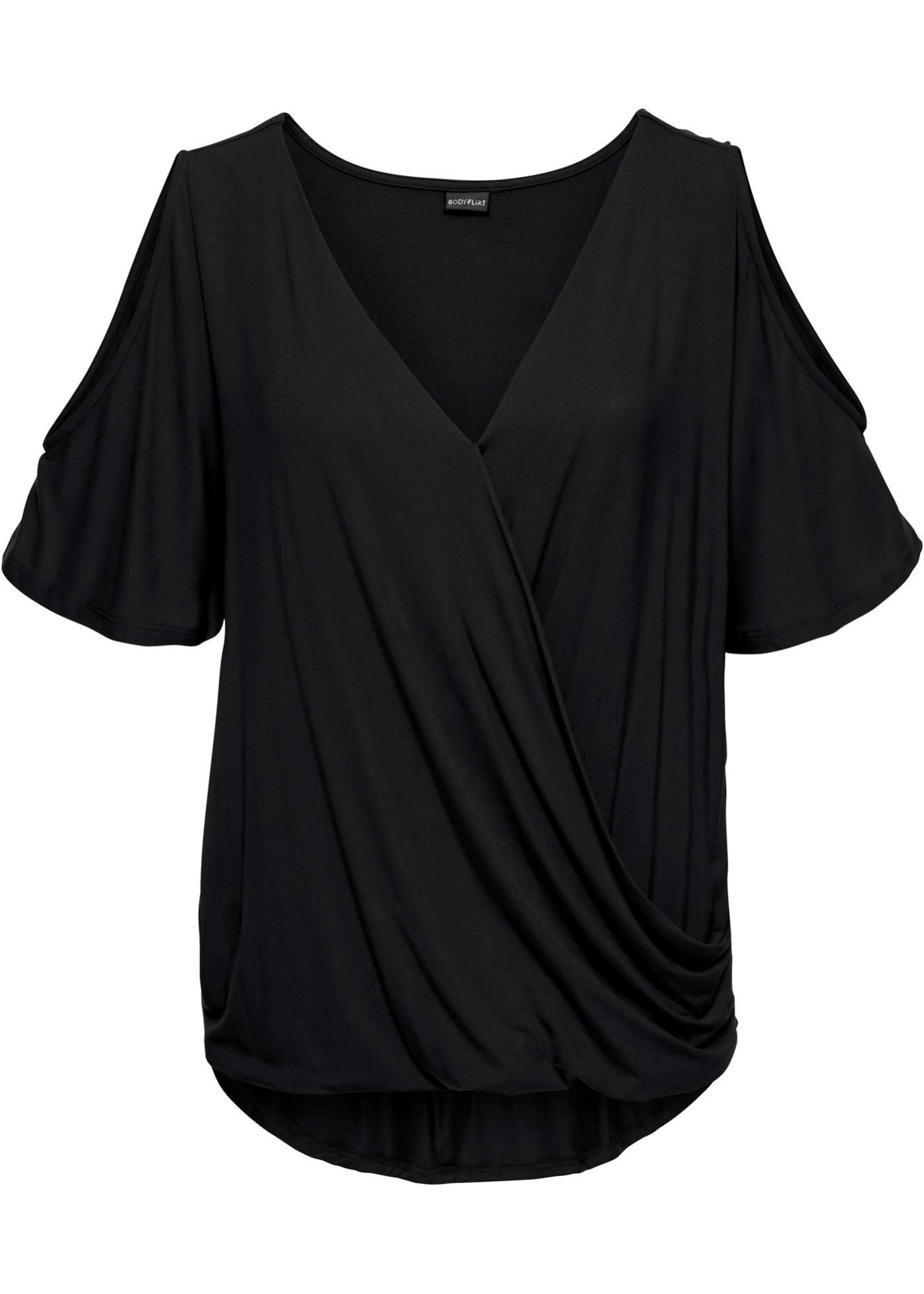 Bodyflirt Femme Avec 4 shirt Manches 3 Noir Pour Découpe BonprixT IYHW9eE2D