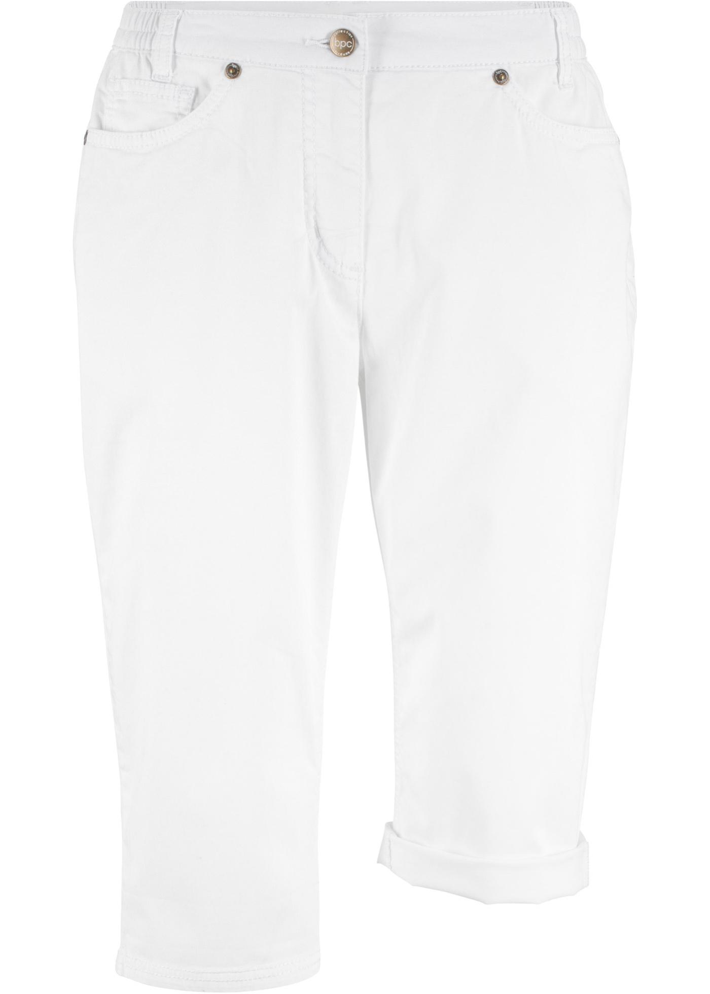 À CollectionBermuda Blanc Pour Bonprix Empiècement Femme Extensible Taille Confortable Bpc NPZkXnw80O