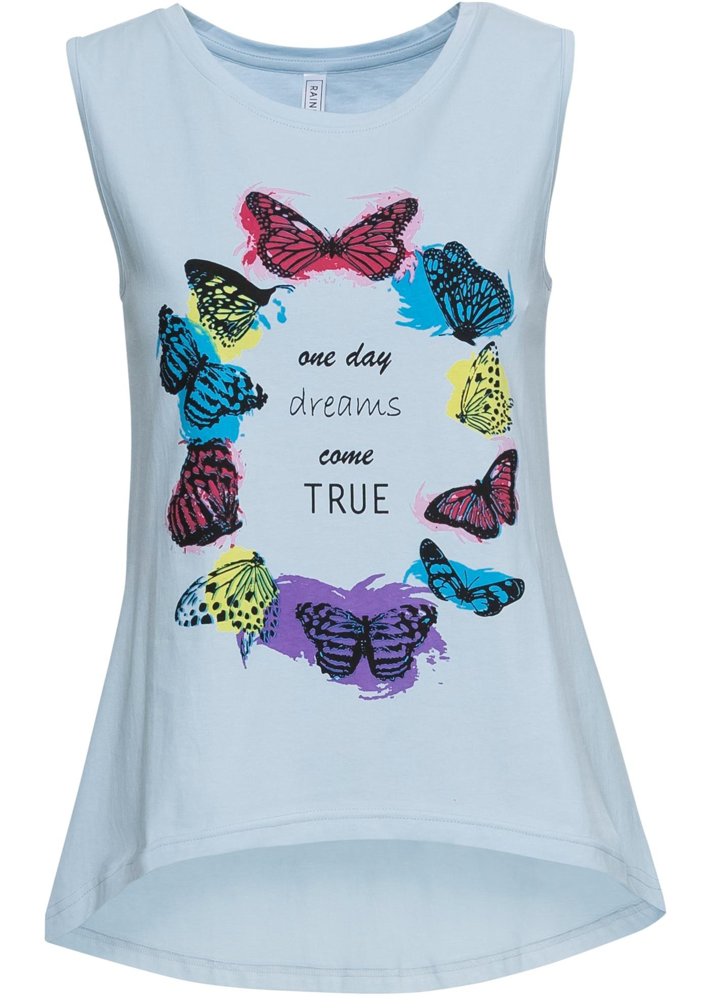 Imprimé À Bleu BonprixT Pour Femme Rainbow Manches shirt Sans trsQhxdC