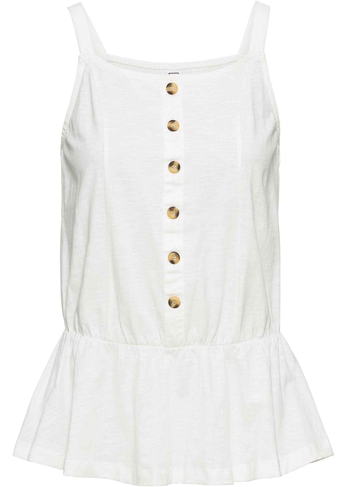 Boutonnage Blanc De BonprixT Manches Femme Sans À Patte Pour Rainbow shirt xdCWBroe