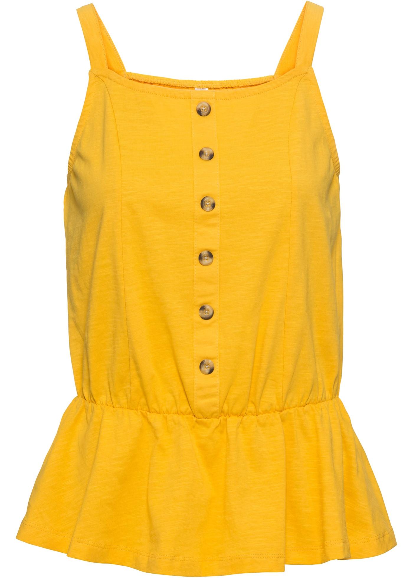 À Sans Jaune BonprixT shirt De Boutonnage Rainbow Femme Patte Pour Manches R4AqL35j