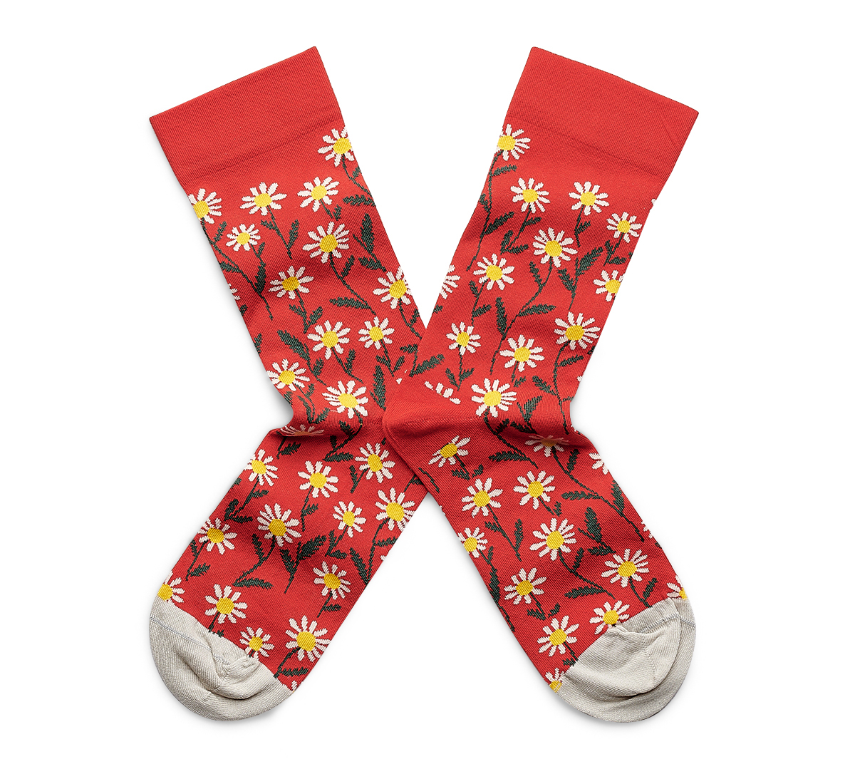 Chaussettes Fleurs Bonne À Motifs Maison Rouges eBxoCd