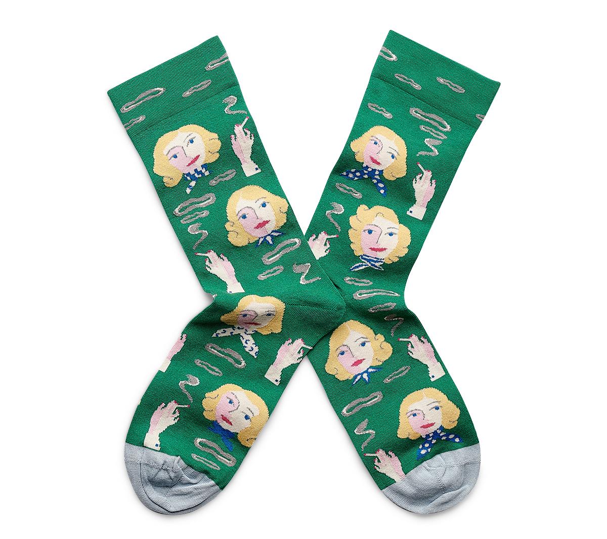 Chaussettes À Motifs Vertes Blondes Bonne Maison vNw0nOym8