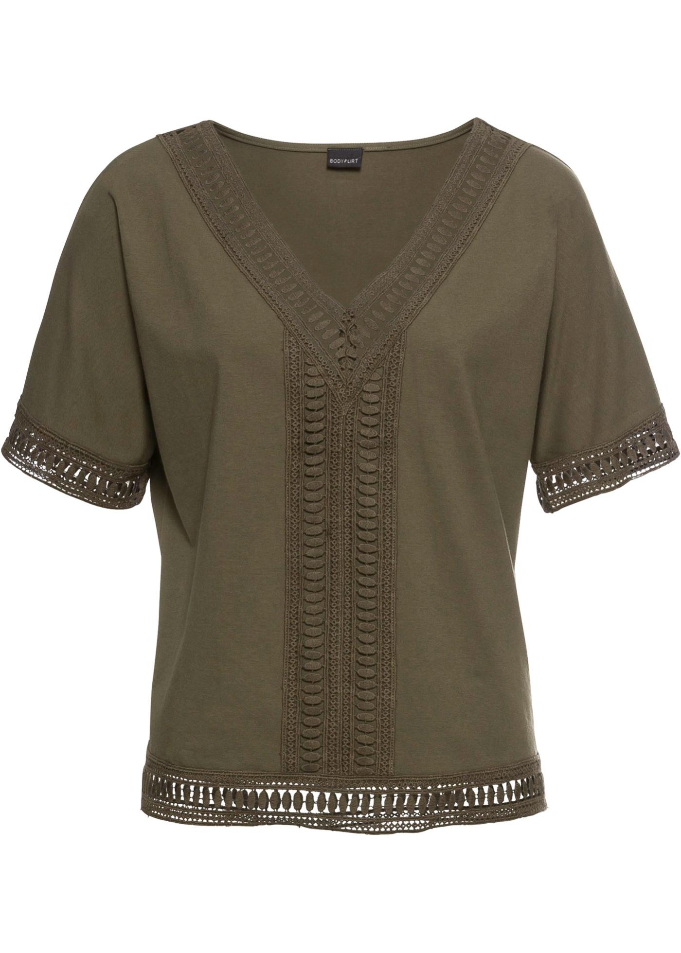 Pour Femme Courtes shirt BonprixT Vert Manches Bodyflirt edxBorC