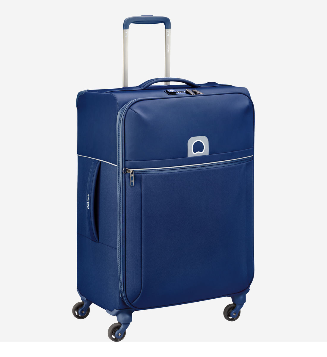 Delsey Valise Souple Brochant Cm Trolley 4r 67 Bleu 9IYEeWD2H