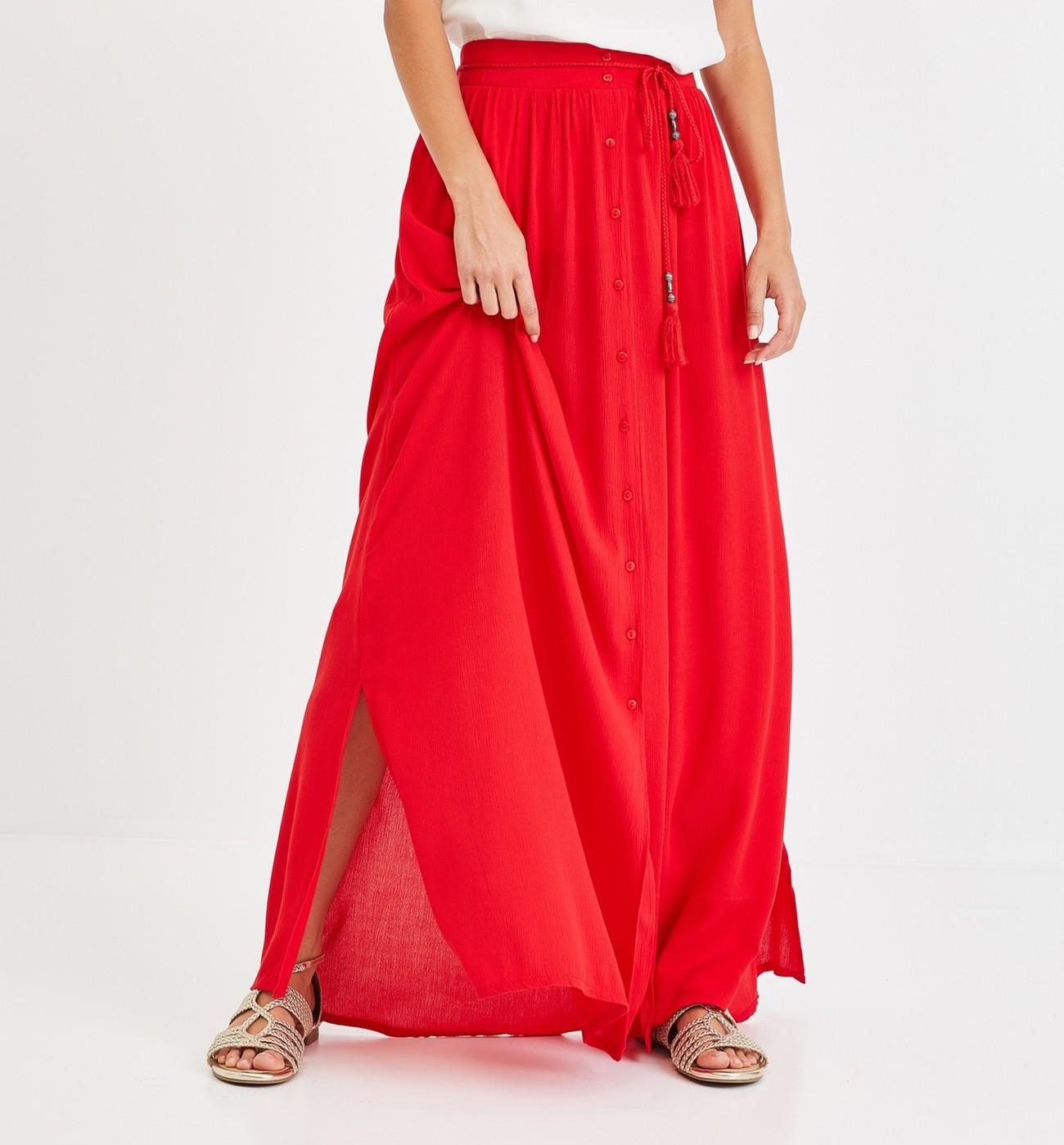 Longue Jupe Jupe Promod Longue Crêpon Crêpon Promod Femme UVMpSz