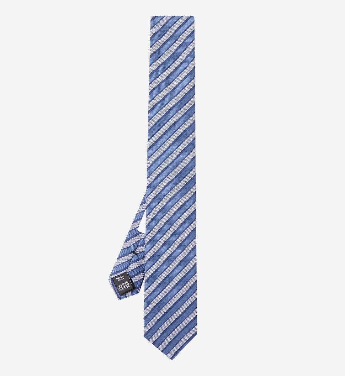 Calvin Soie Rayée Bleu Klein Cravate wym80PnNvO