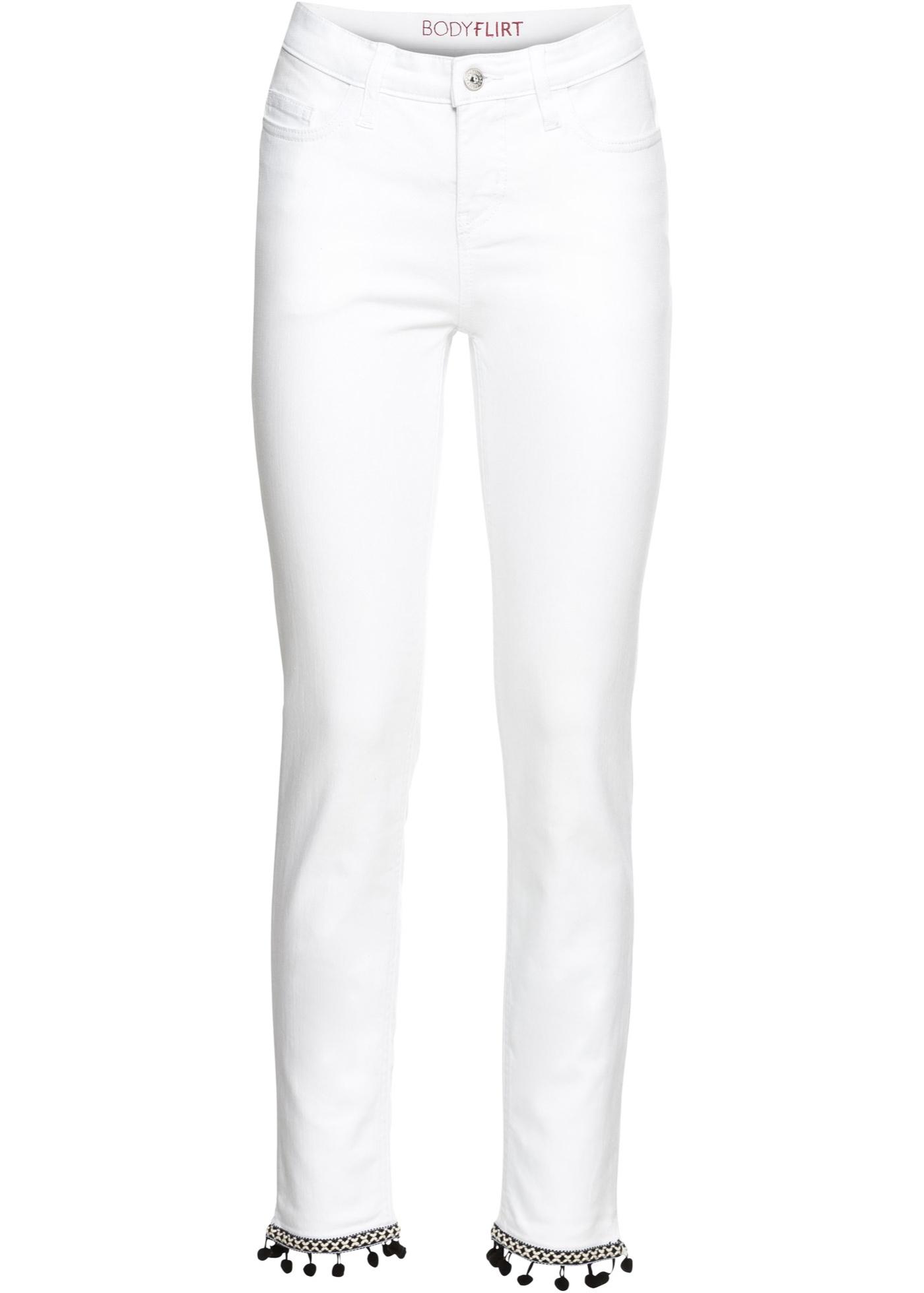 À BonprixJean Pompons Bodyflirt Femme Blanc Pour 7y6gbf