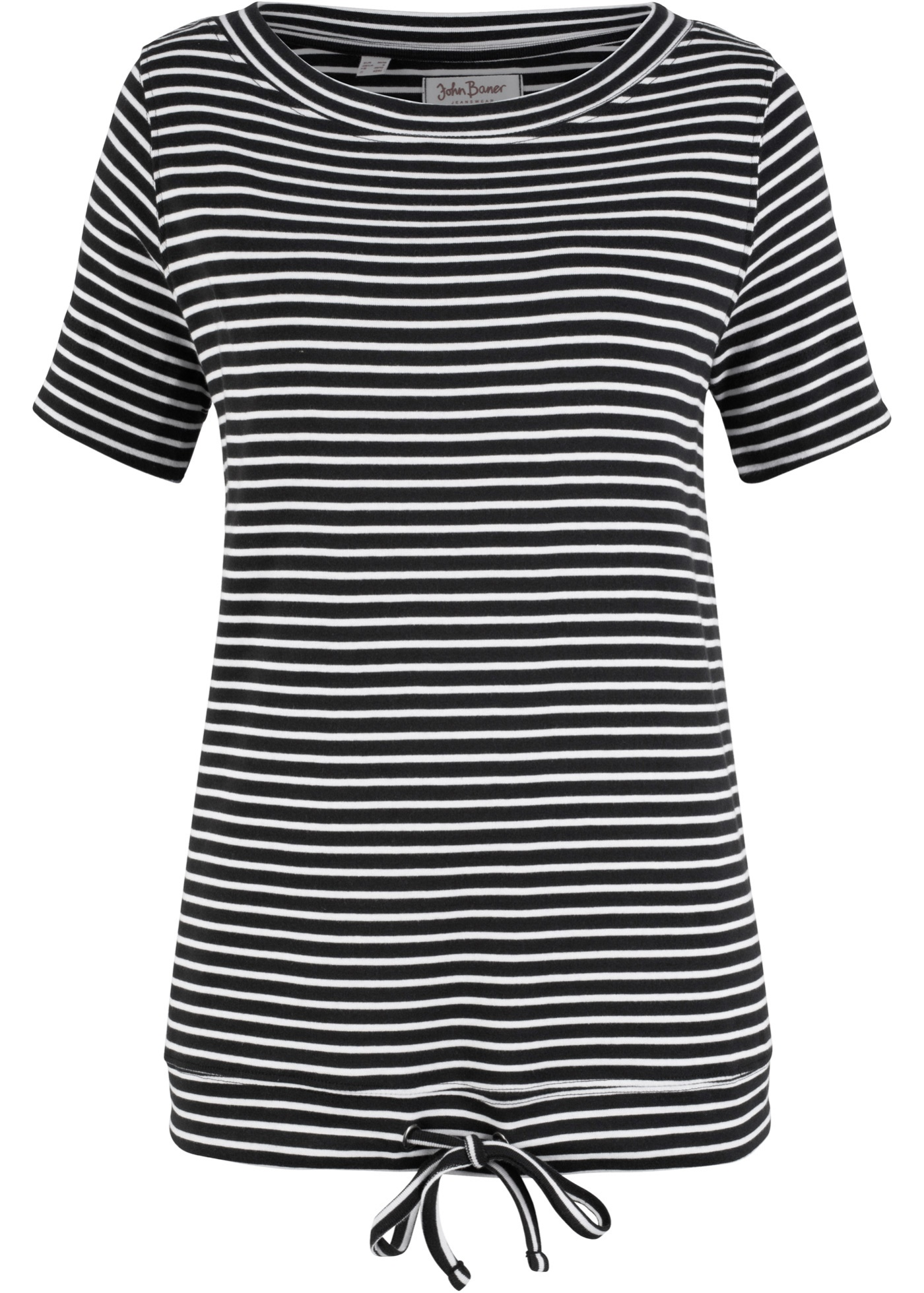 shirt 2 Femme Manches Pour Rayé John 1 Baner Noir Jeanswear BonprixT 4A5Rq3jL