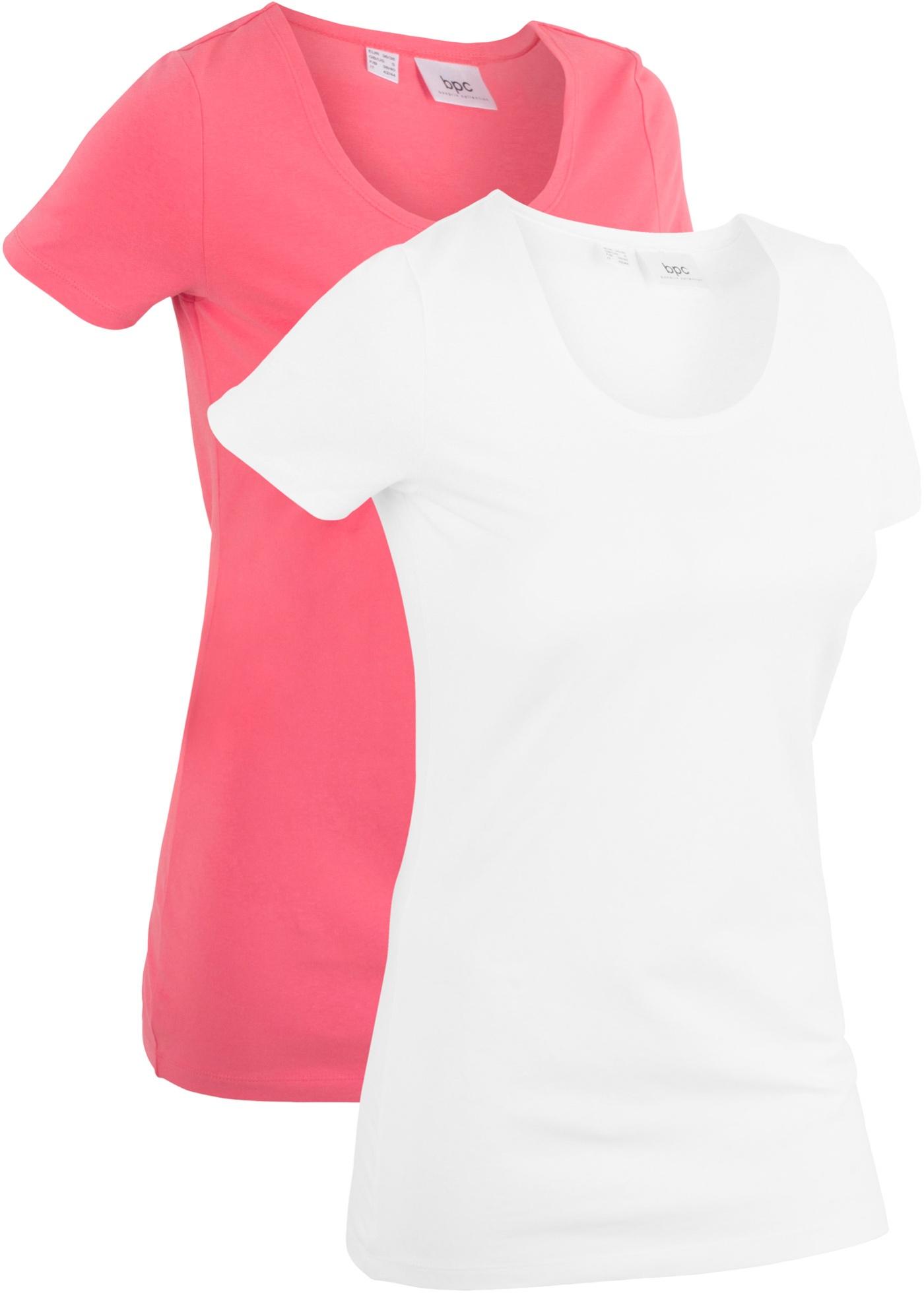 Bpc Femme shirts Bonprix Pour 2 CollectionLot T De Fuchsia LongsManches Courtes zMULSqGVp