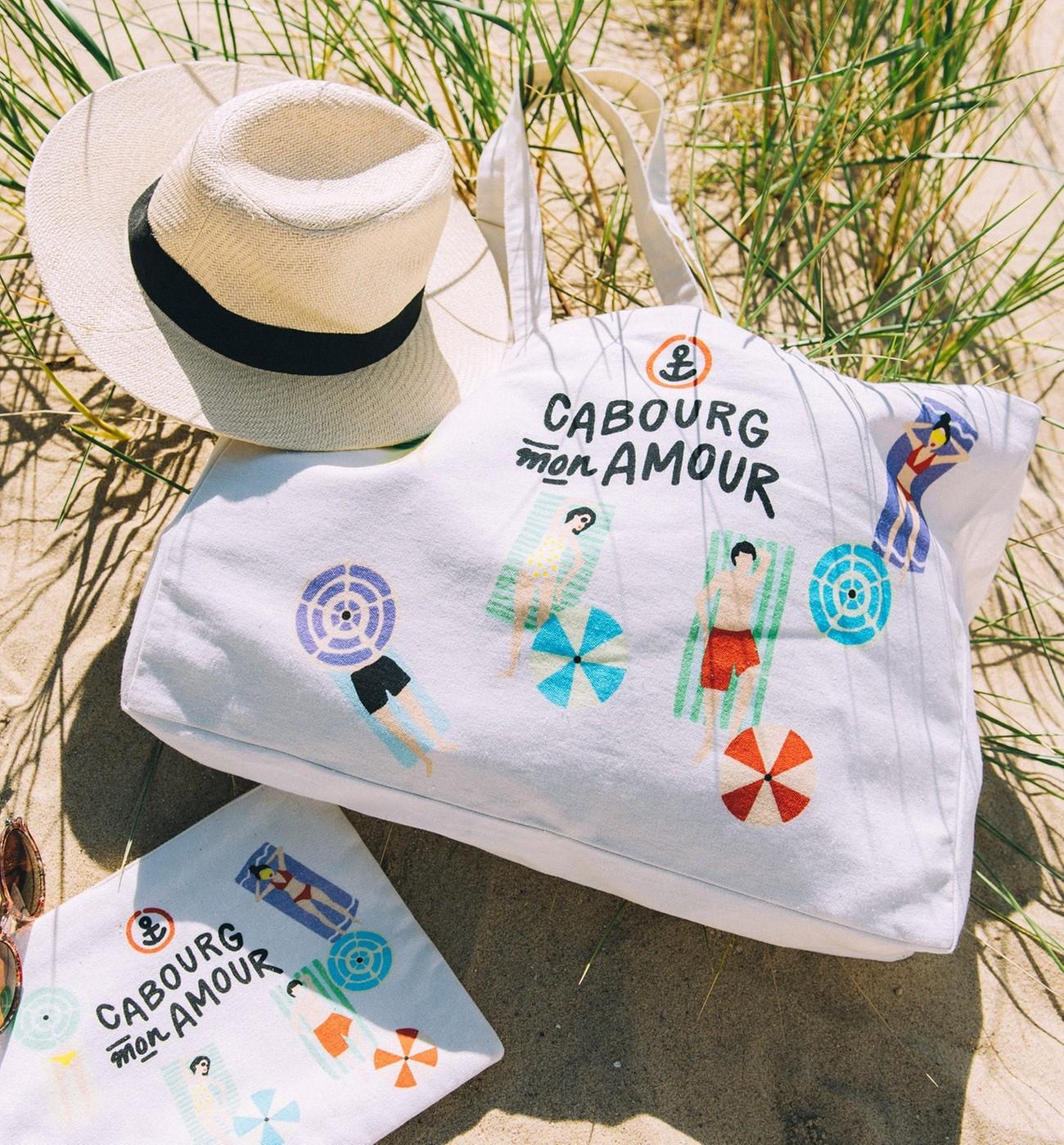 Bag Mon Promod Tote Cabourg Amour 34Sc5ARqLj