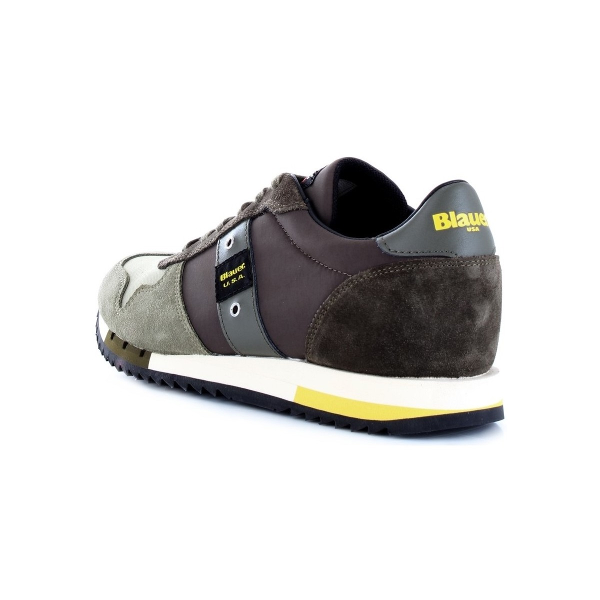 Blauer Baskets Militaire nyl 9squincy01 Homme Basses Vert Qrsthd