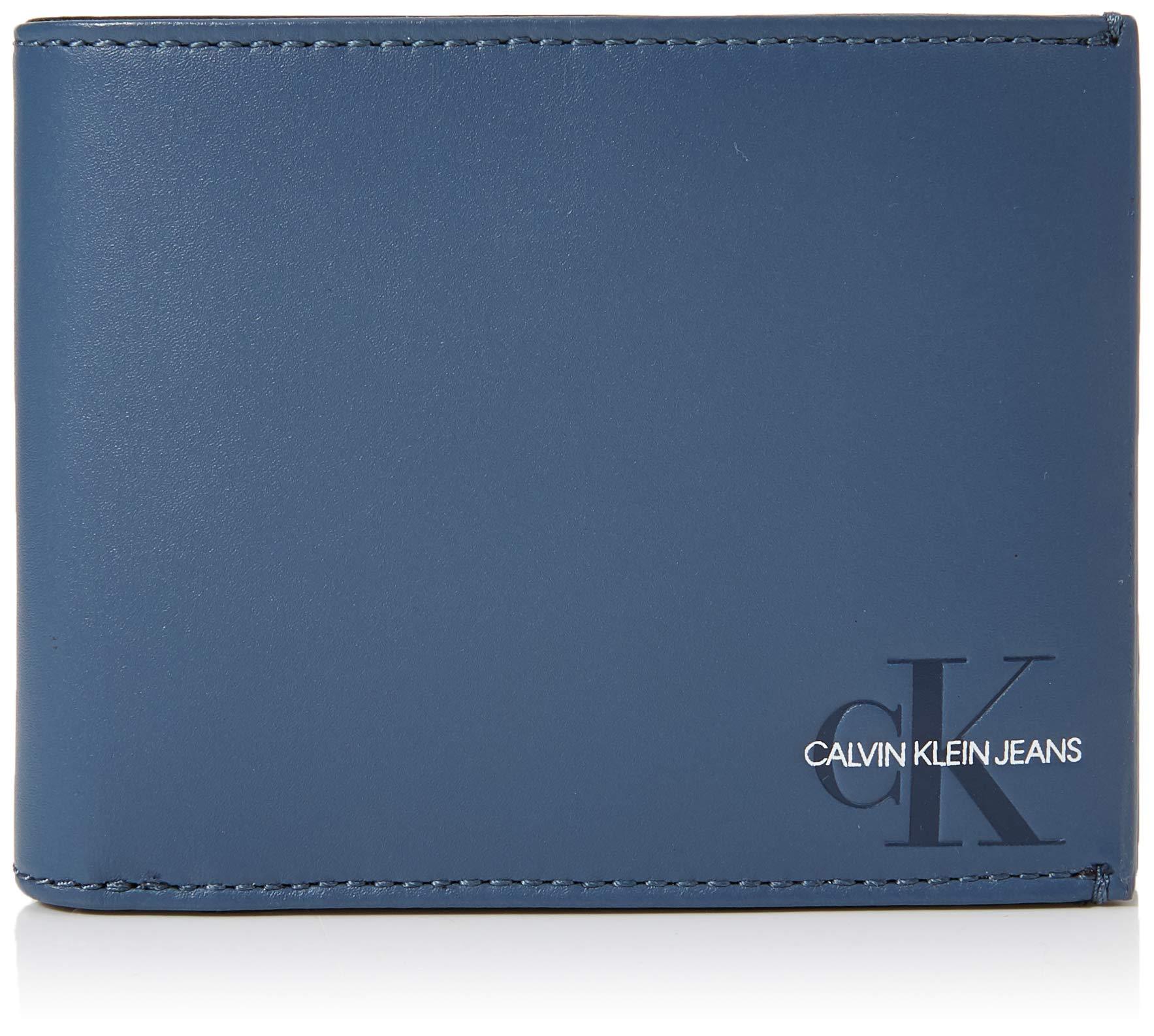 Klein Monogram HommeBleuwashed Calvin CoinPortefeuilles Blue1x1x1 X Cmw Billfold W H L 2DWEH9I