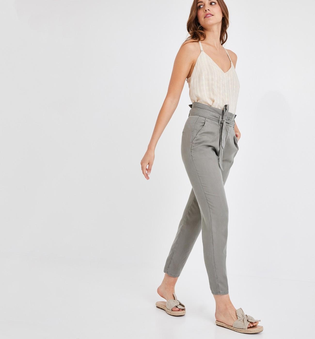 Paper Bag Pantalon Femme Promod bf7YvmI6gy