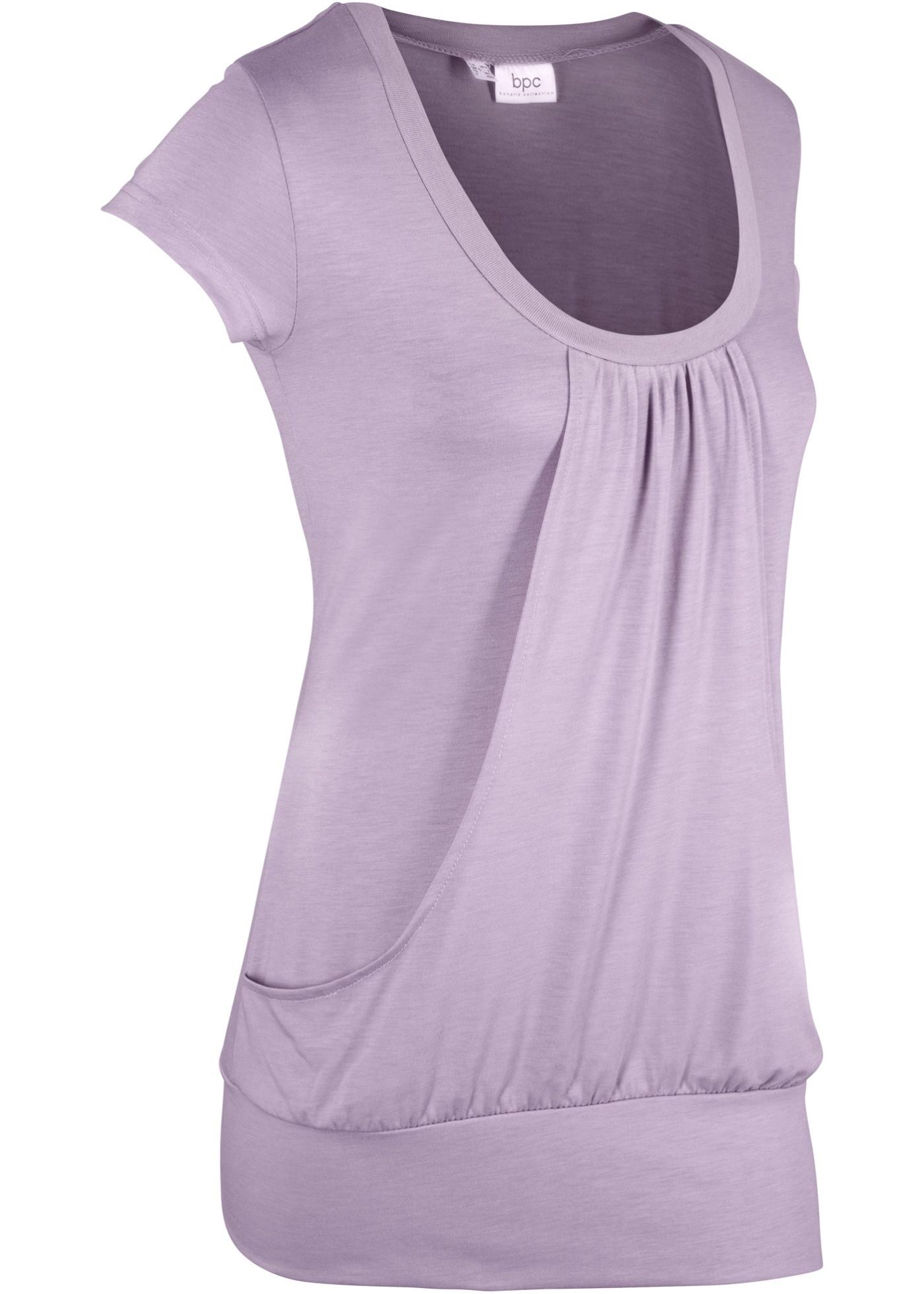 shirt LongManches Violet Femme Bonprix Courtes Pour Bpc CollectionT mPN08yvwOn