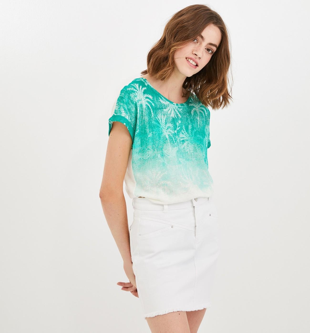 shirt Tieamp; Promod Dye Femme T ZuwOkXTlPi