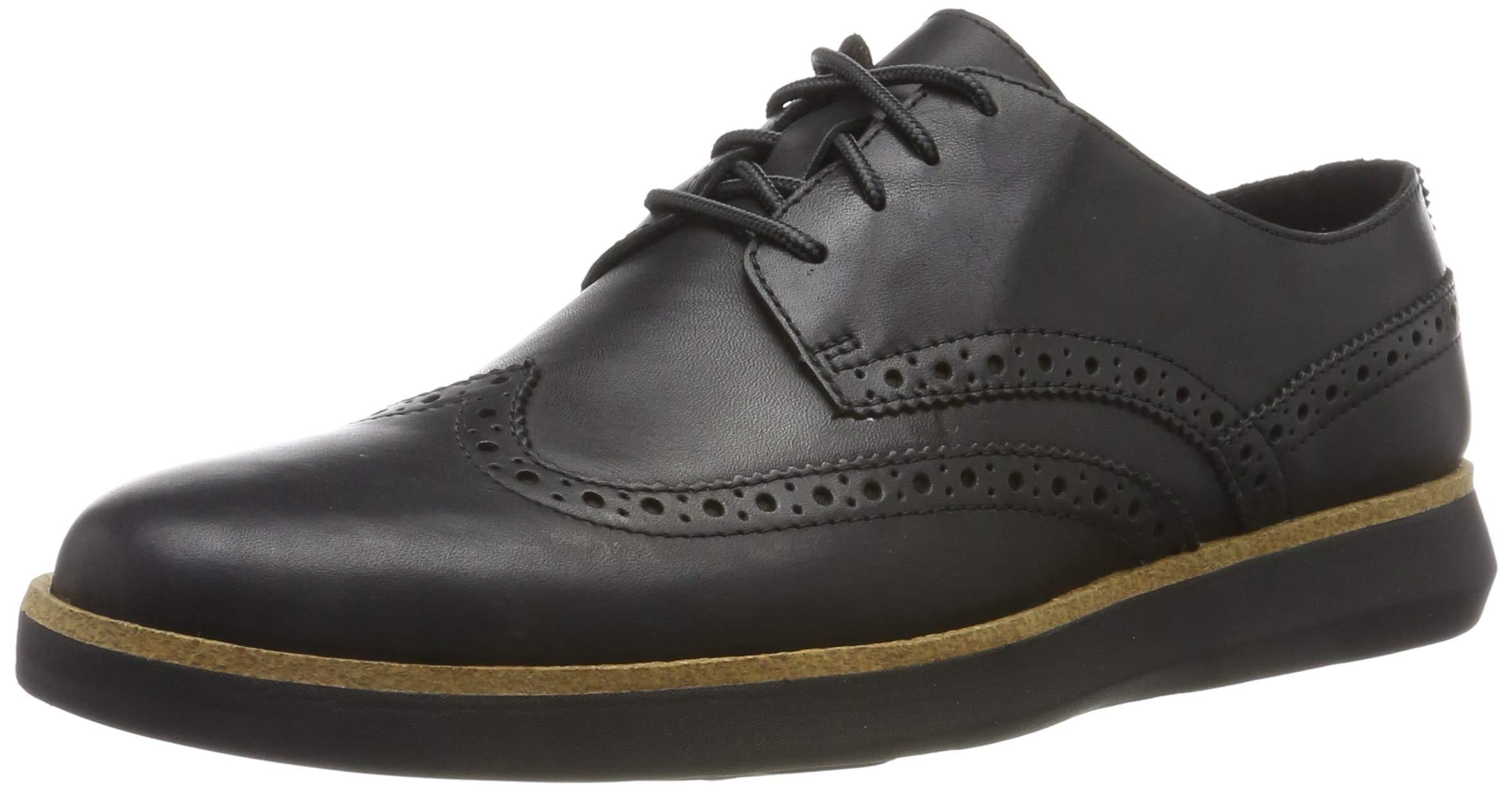 Fairford HommeNoir Black Leather43 Eu Clarks WalkBaskets 08nPkOw