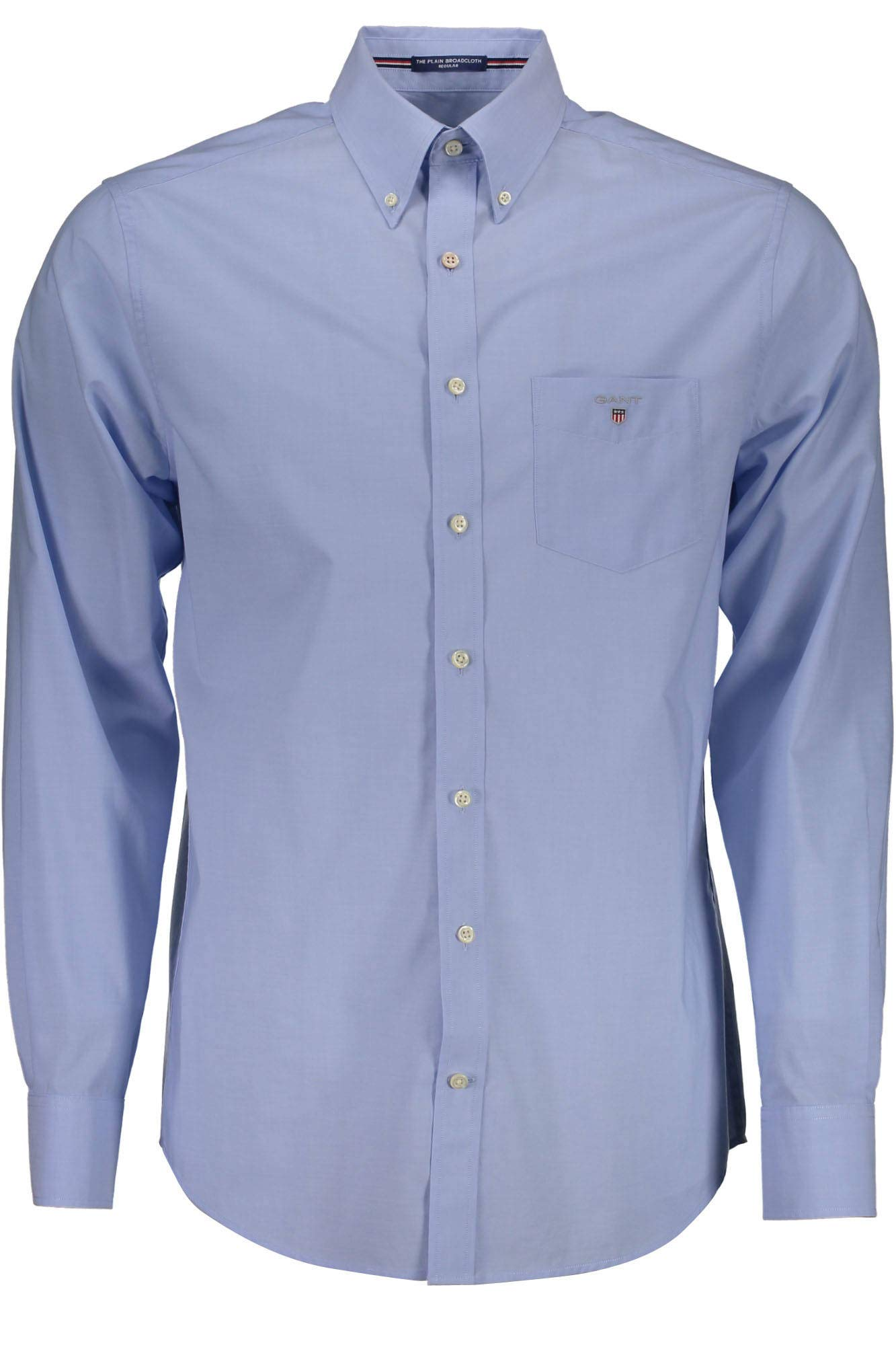 The CasualBleuhamptons Homme 304000 Gant BlueLarge Shirt Chemise Plain Broadcloth mNvOy0w8n