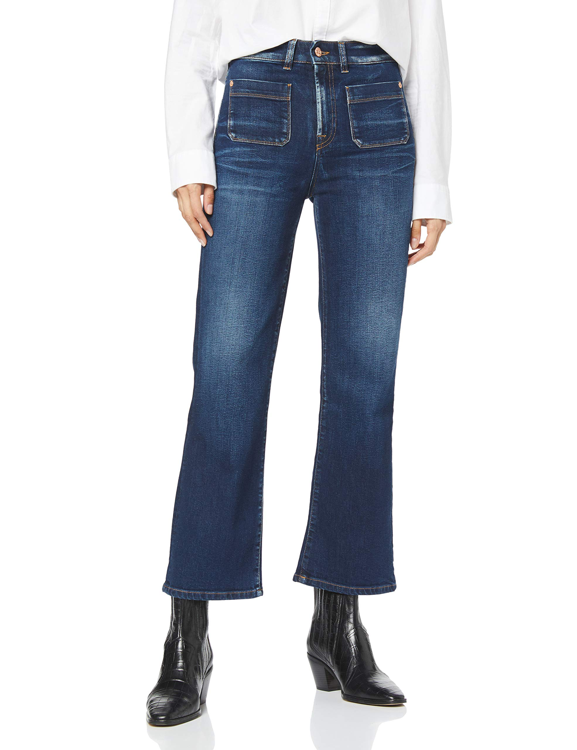 0lo46taille Boot Jean Vintage Fabricant30Femme All Hw BootcutBleu Cropped Seven Mankind Sagl International For Canyon vmNnw08O