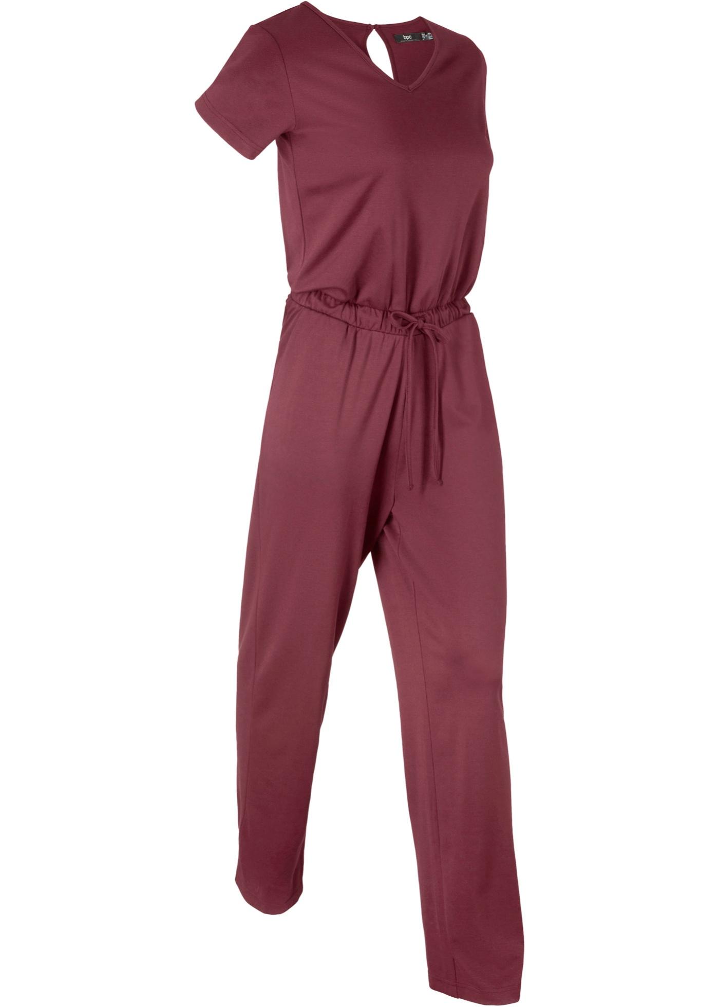 Manches CollectionCombi Pantalon Rouge Courtes Bpc Bonprix Femme Pour tQdxhrCs