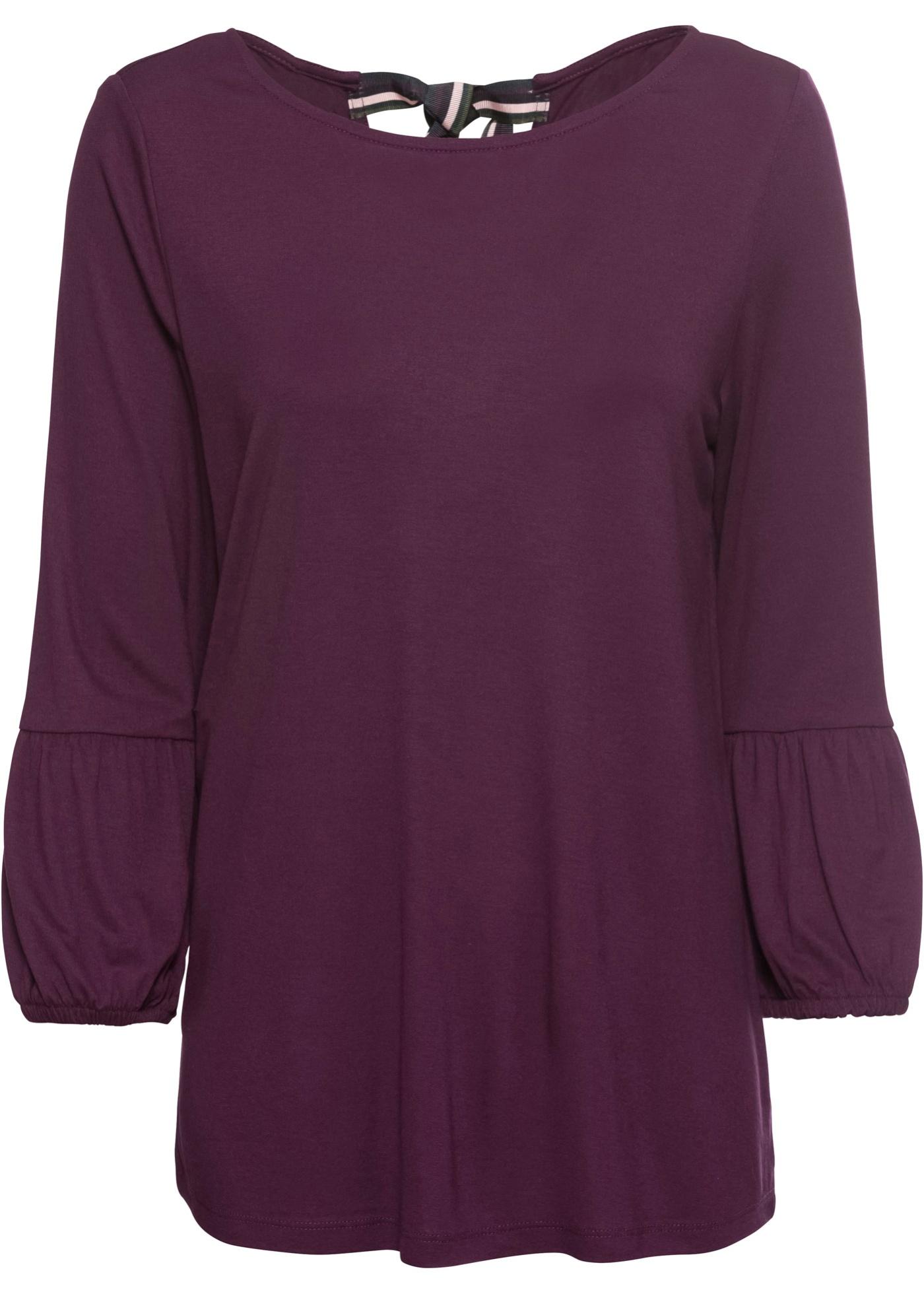shirt 3 Femme Bodyflirt Violet BonprixT 4 Pour Manches mvNynwO80