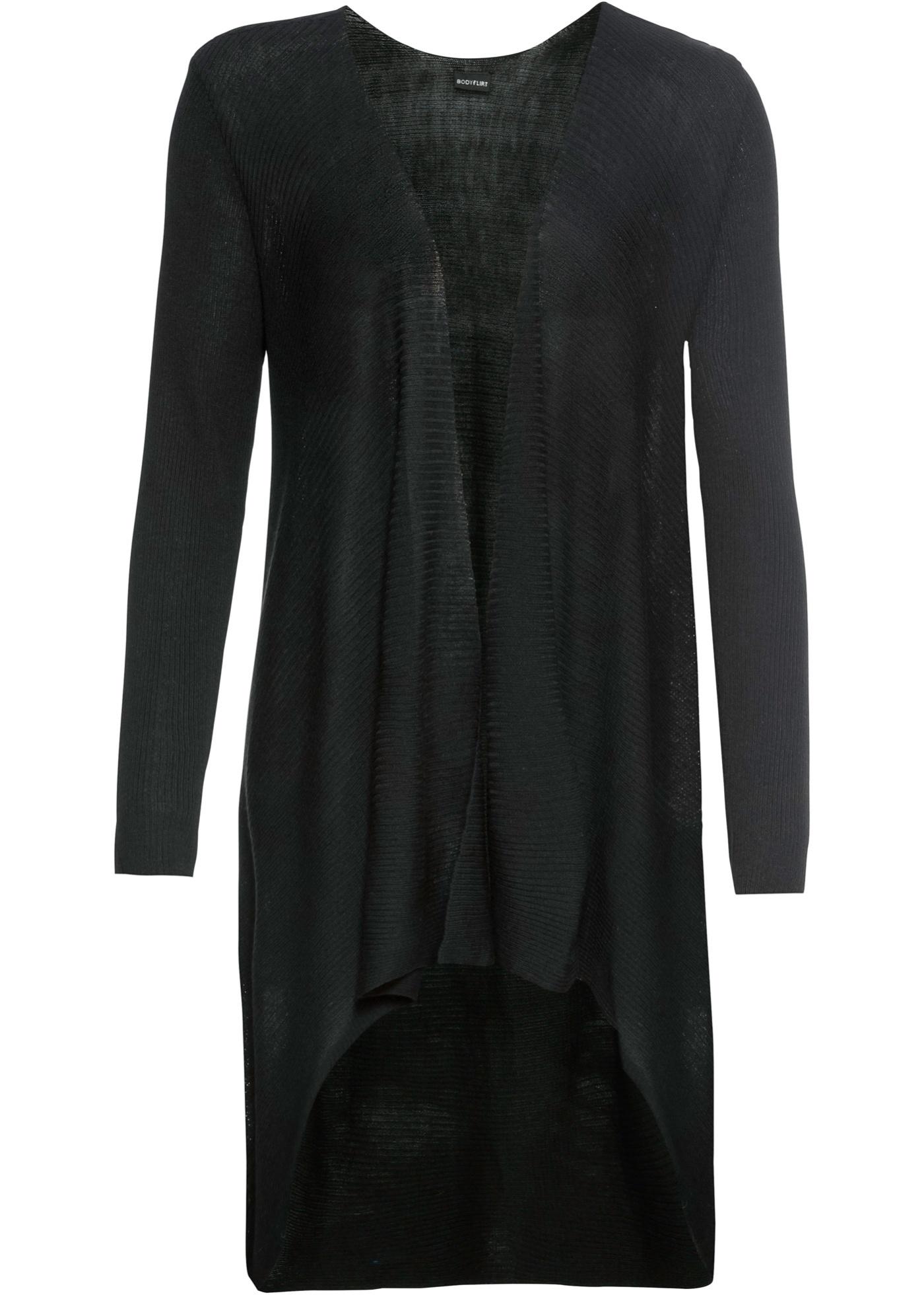 Maille Pour Bodyflirt Noir Longues Femme Long Manches BonprixGilet En qSUGMpzV