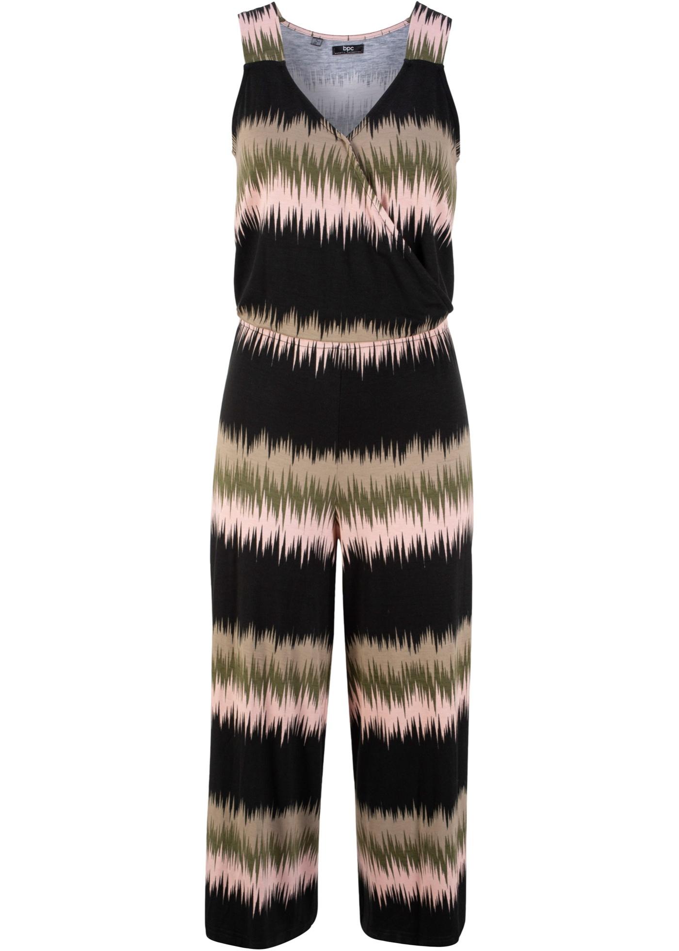 Femme Pantalon Sans Bonprix CollectionCombi Manches Pour Bpc Noir 0PkwOn