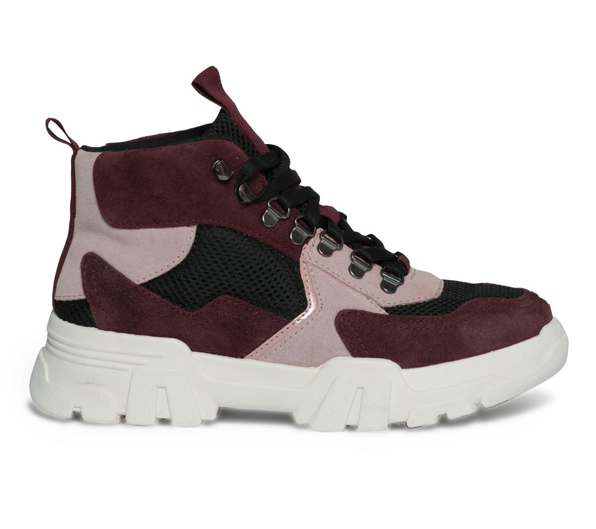 Shoes Velours Et Bordeaux Cuir Dad Eram Rose 80mnNw