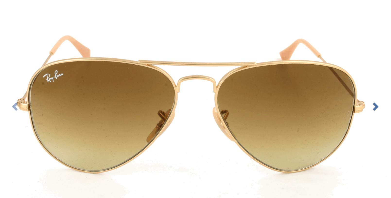 112 8558 Large Ray IconsOrmatte Aviator Goldmarron ban Metal 5LRq3A4j