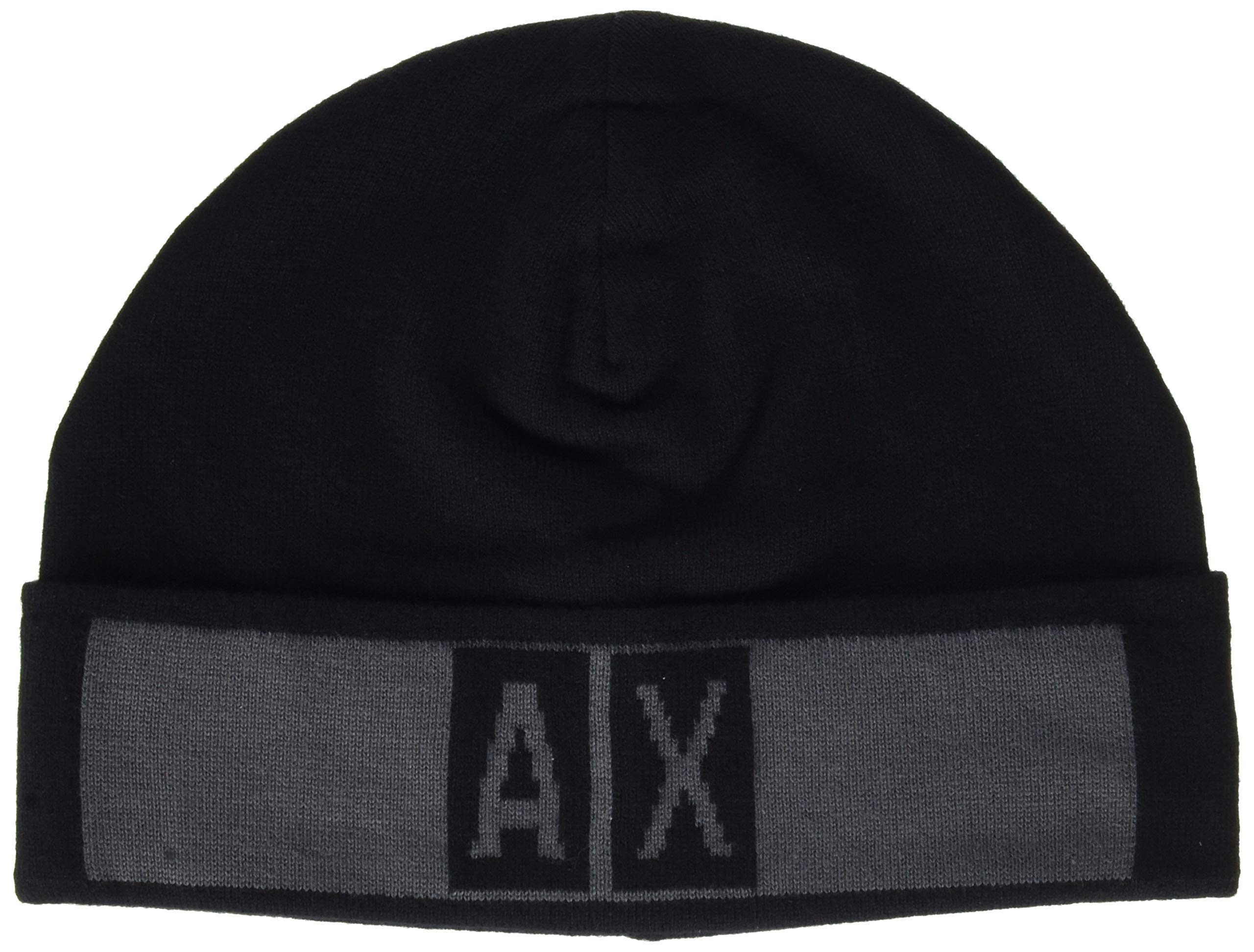 Unique Exchange Armani iron BéretNoirblack Gate 6219Taille With Beanie Logo Homme Hat PXZuwkiTO