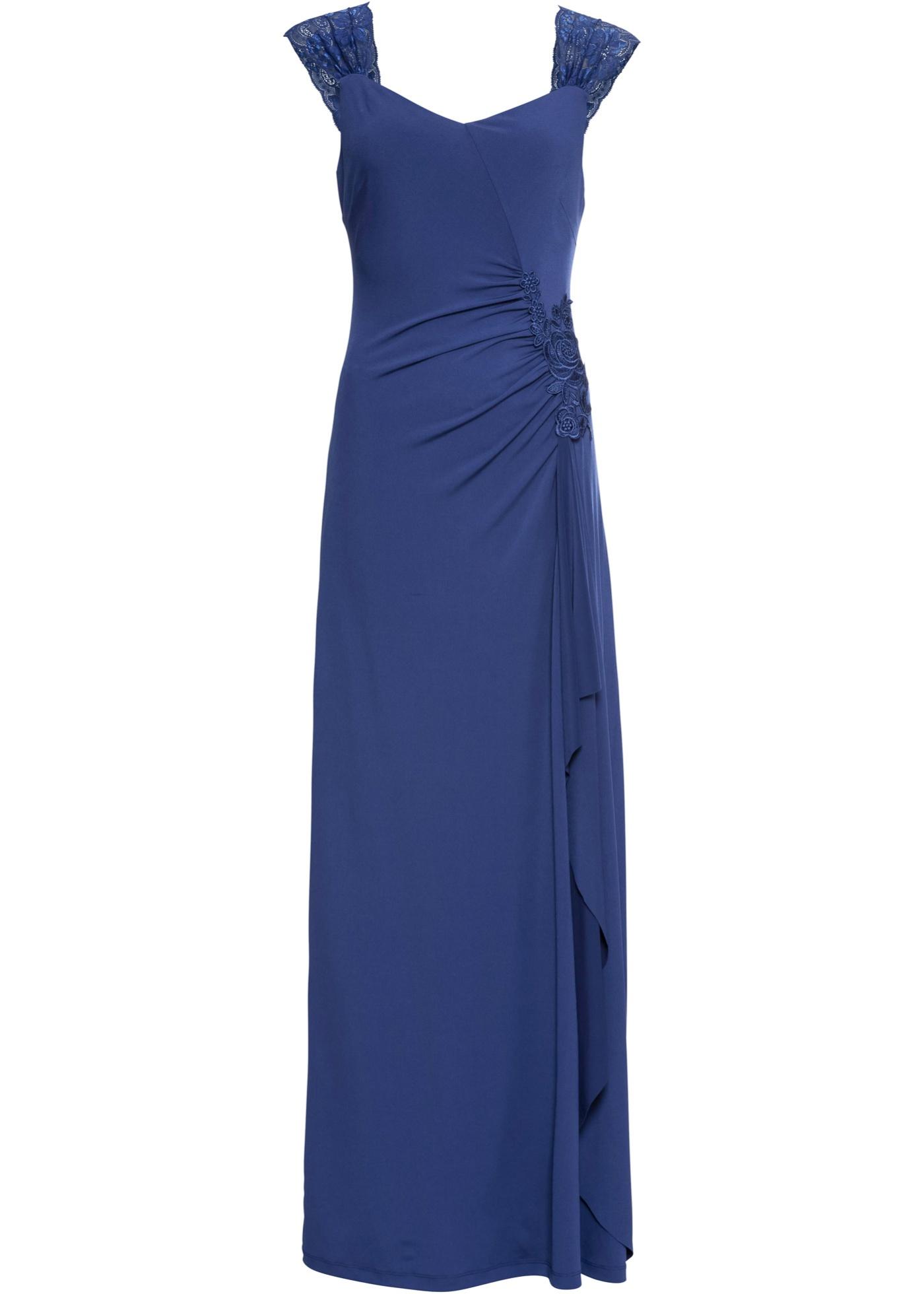 Pour Sans Bodyflirt D'été Bleu De Boutique BonprixRobe Femme Longue Manches Soirée 3A4qRL5j
