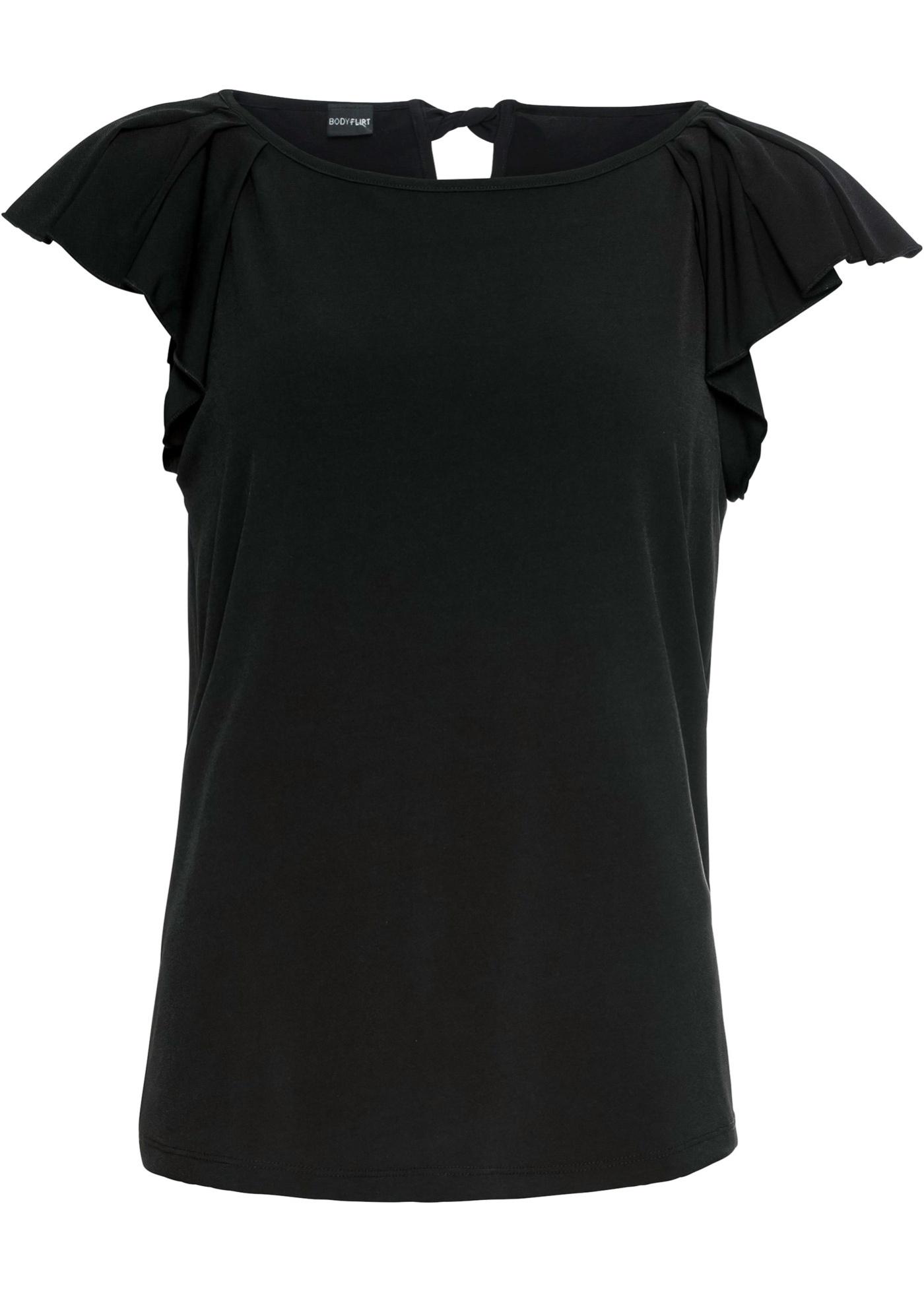 BonprixT Pour Femme shirt À Manches Volantées Noir Bodyflirt 2WD9EIH