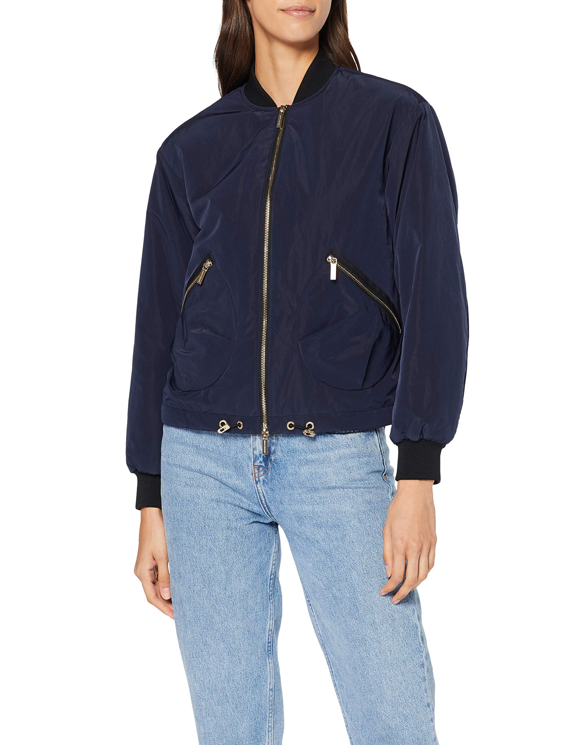 FemmeVioletblueberry Coat Style 1593Small Armani Bomber Exchange 90 Veste Jelly n0PkOw8X