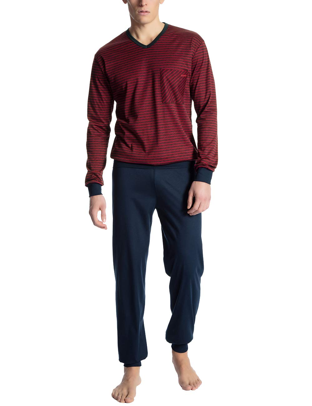 1 Ensemble 159X Calida Homme PyjamaRougerumba Red Relax Streamline De large eED9IWH2Y