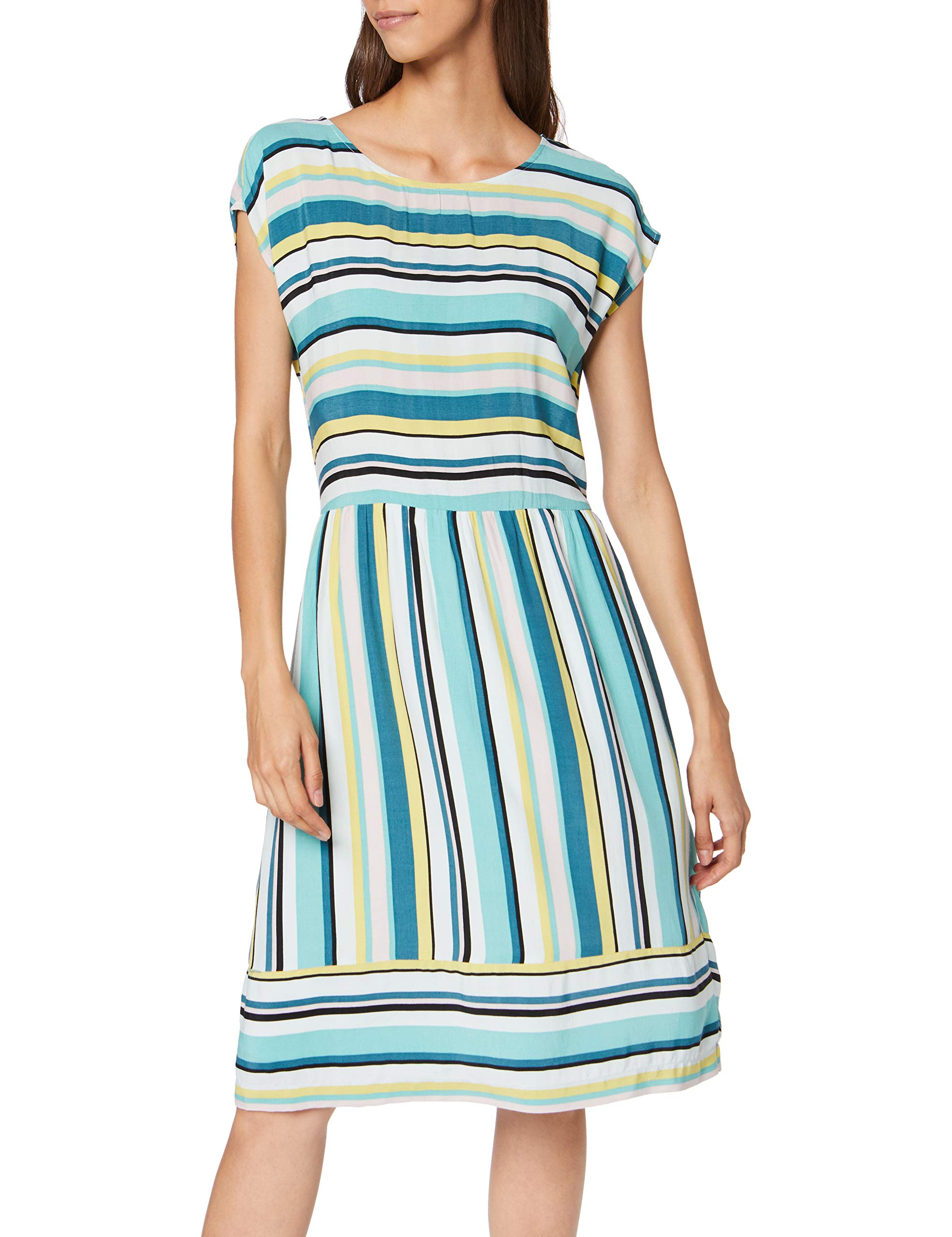 Gestreiftes RobeMulticolorewhite Colorful Kleid S 1863944taille Fabricant42Femme Tailor Casual Big Tom j4AL35R