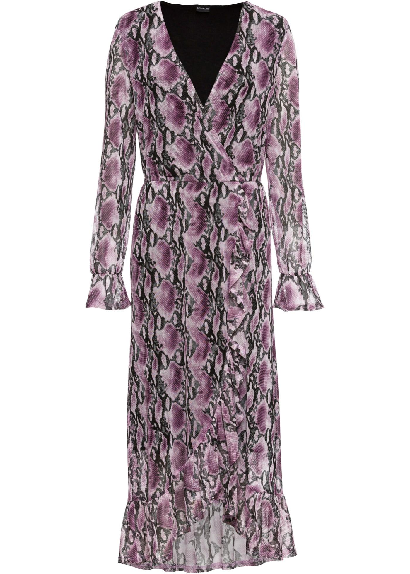 Style D'été Manches Portefeuille Violet BonprixRobe Pour Bodyflirt Longues Femme BexoWrdC