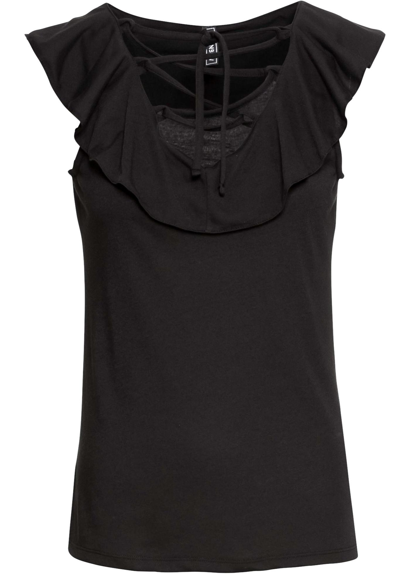Rainbow Manches shirt Noir Femme BonprixT Pour Sans l1cTFJ3K