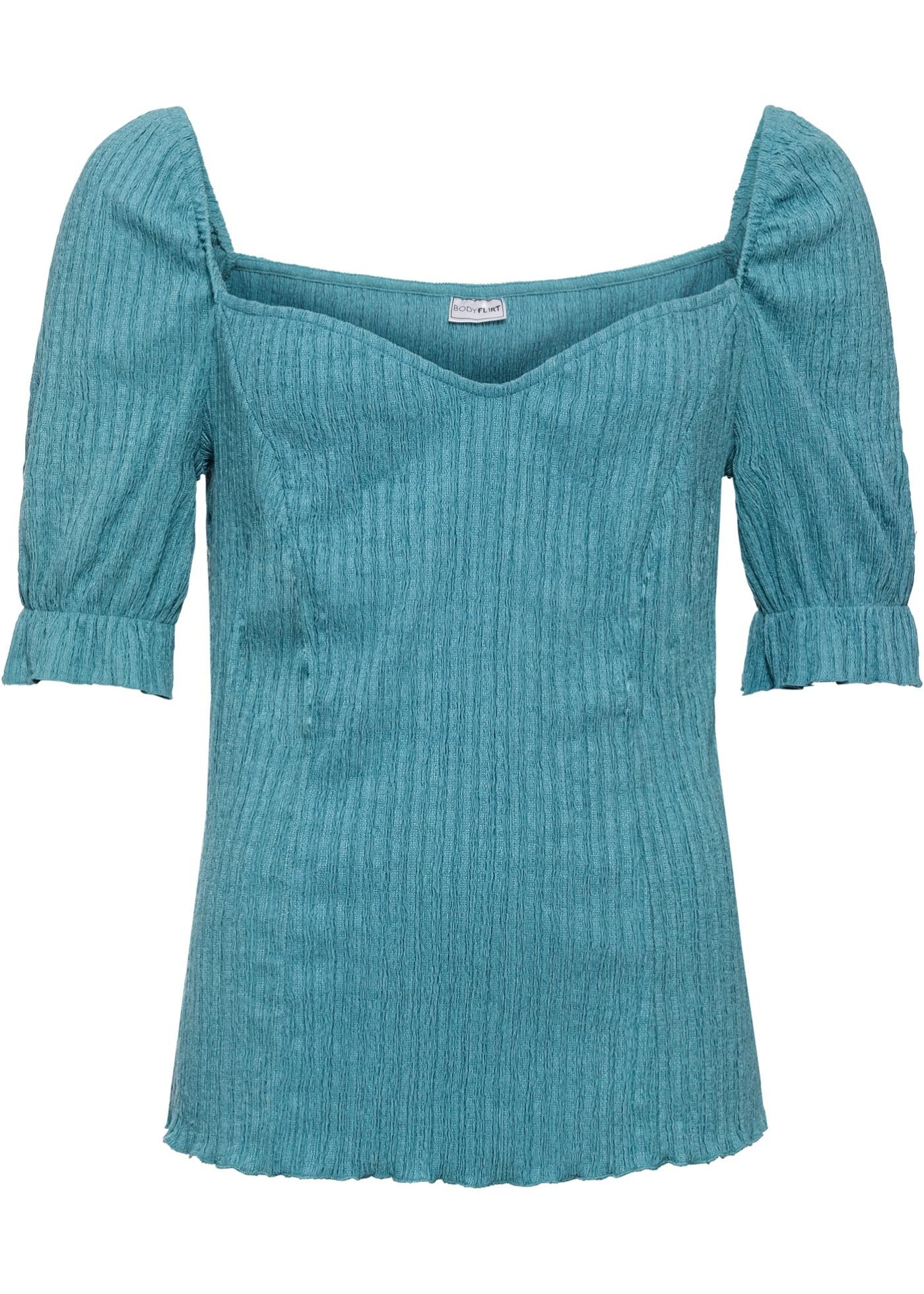 Vert Bodyflirt Structuré shirt BonprixT Pour longues Femme Manches Mi QshtCxBrd