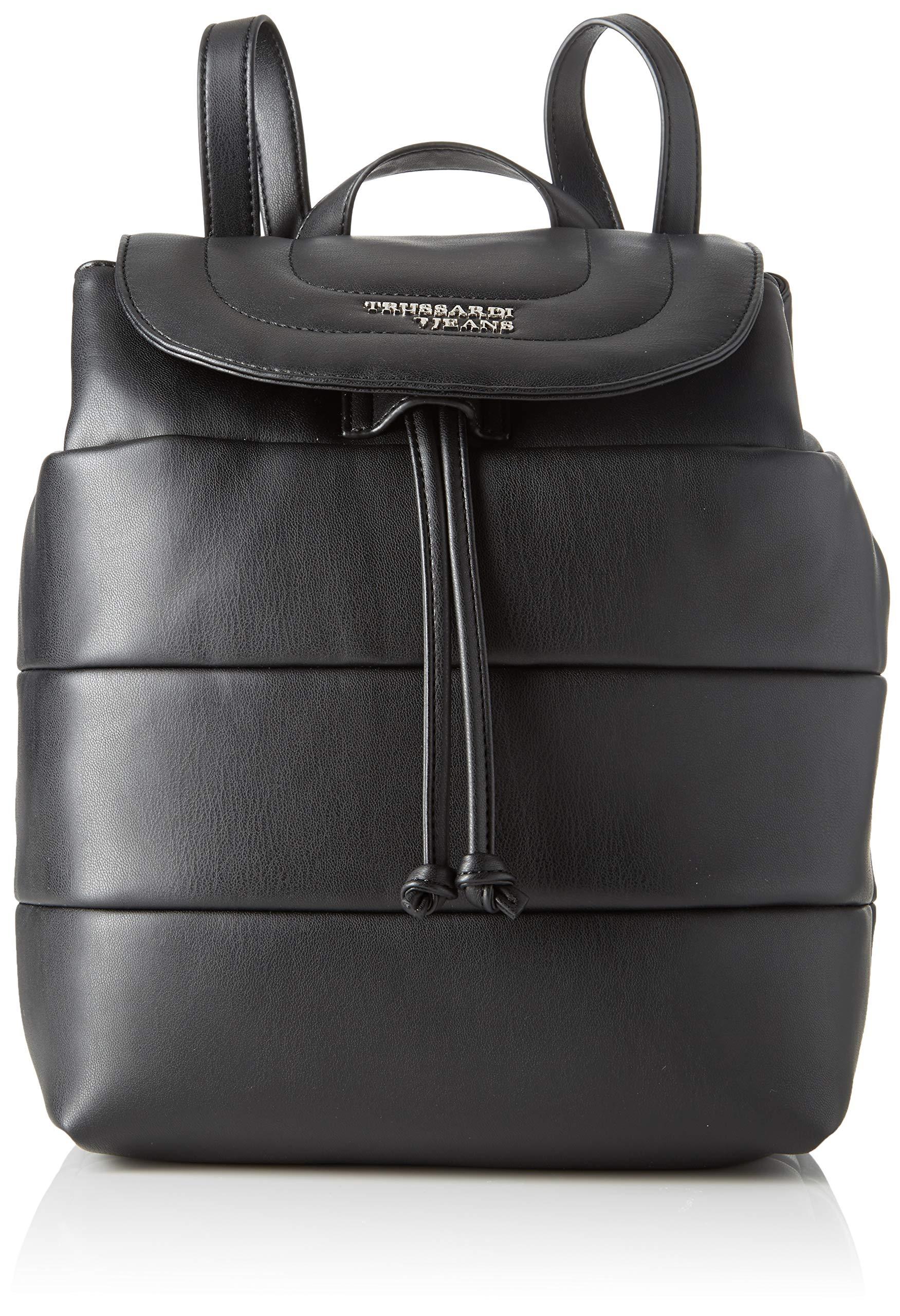 EcoleFemmeNoirblack14x27x22 Jeans L Soft H Cmw Trussardi Stripes Backpack Sm X O0NnwPkX8Z
