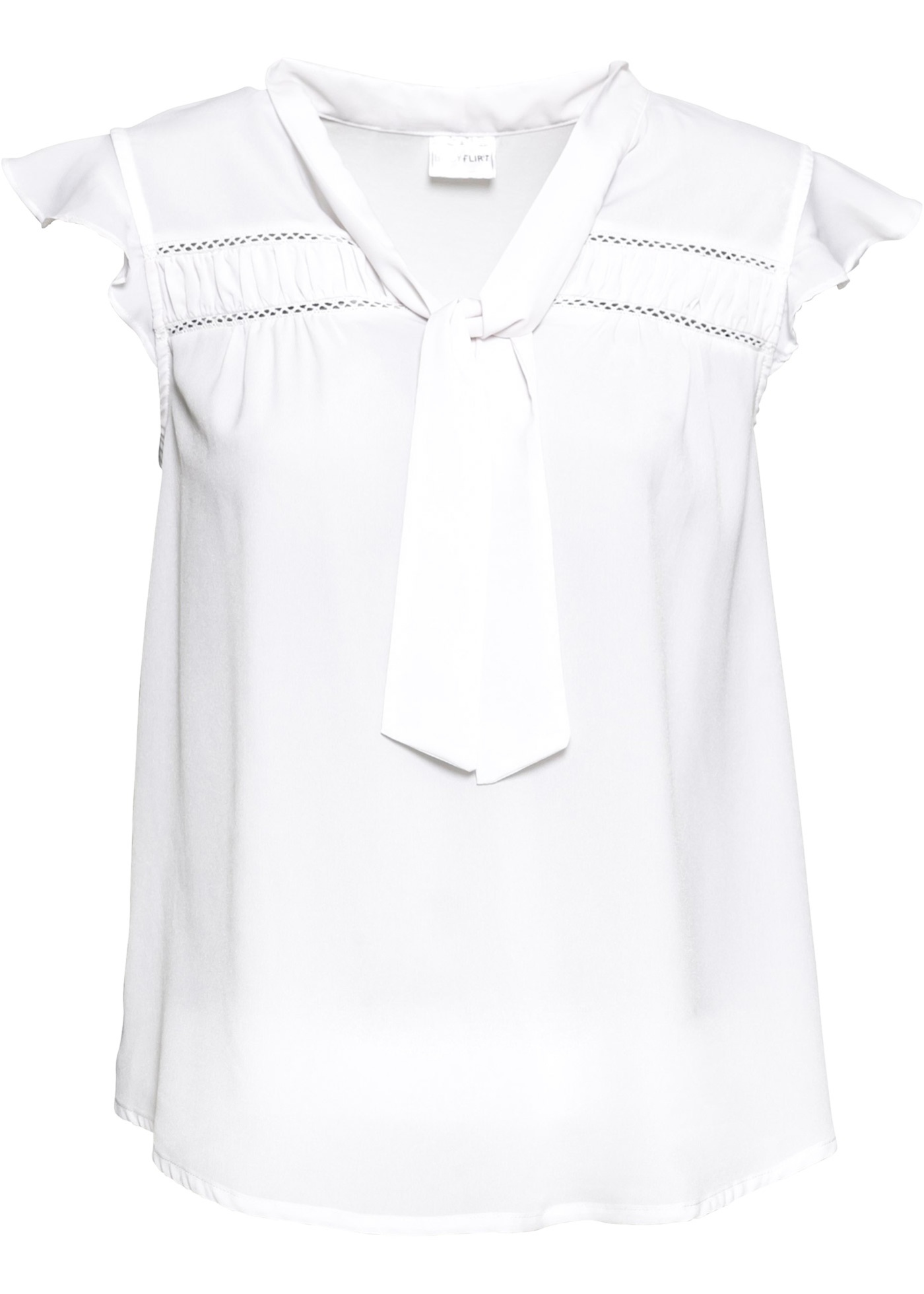Pour Bodyflirt Blouse Mancherons Femme shirt Blanc BonprixT OPZuTXik