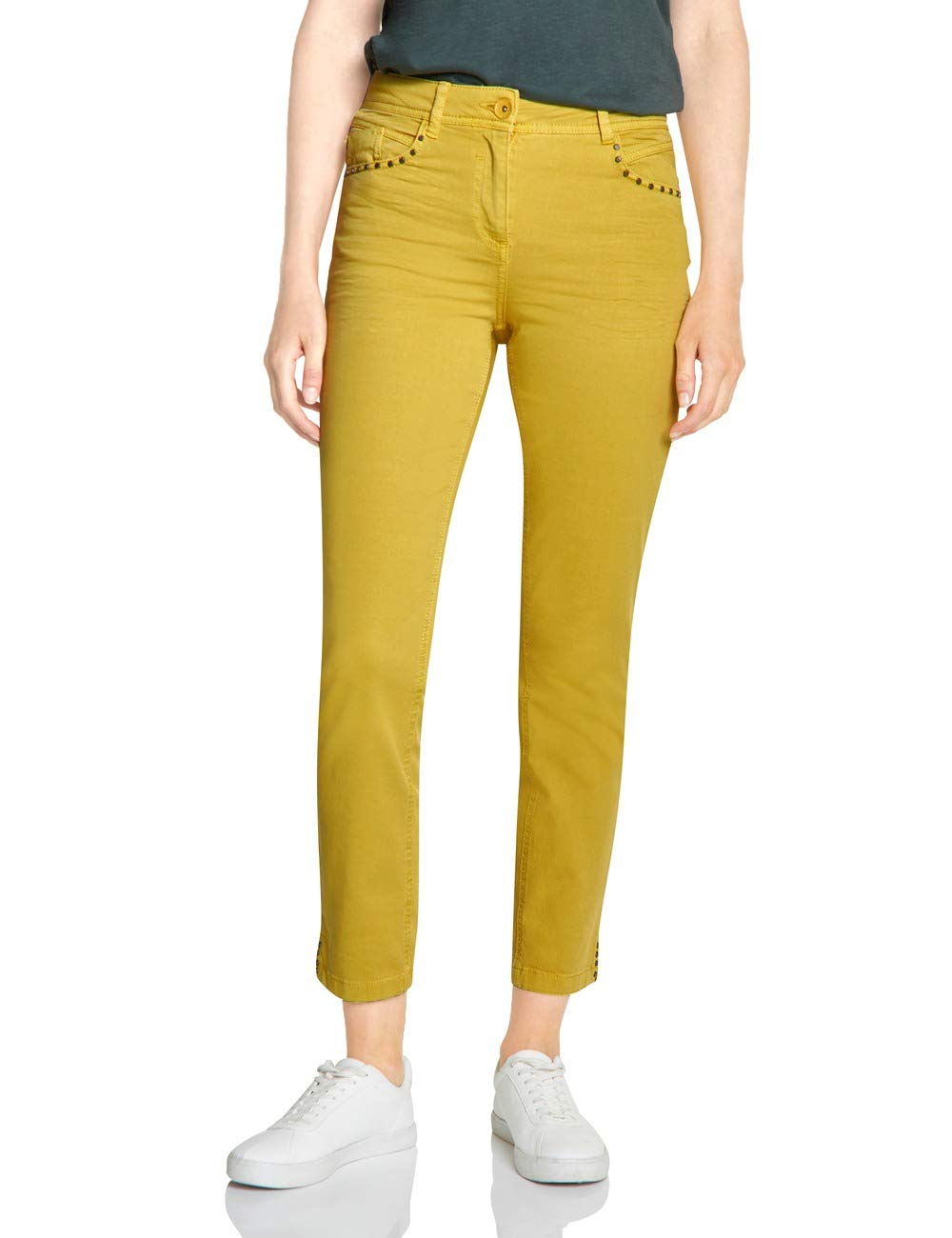 Fit 372403 JeanJauneceylon 11892W32L28taille Slim Fabricant32Femme Yellow Toronto Cecil gbYvyf67