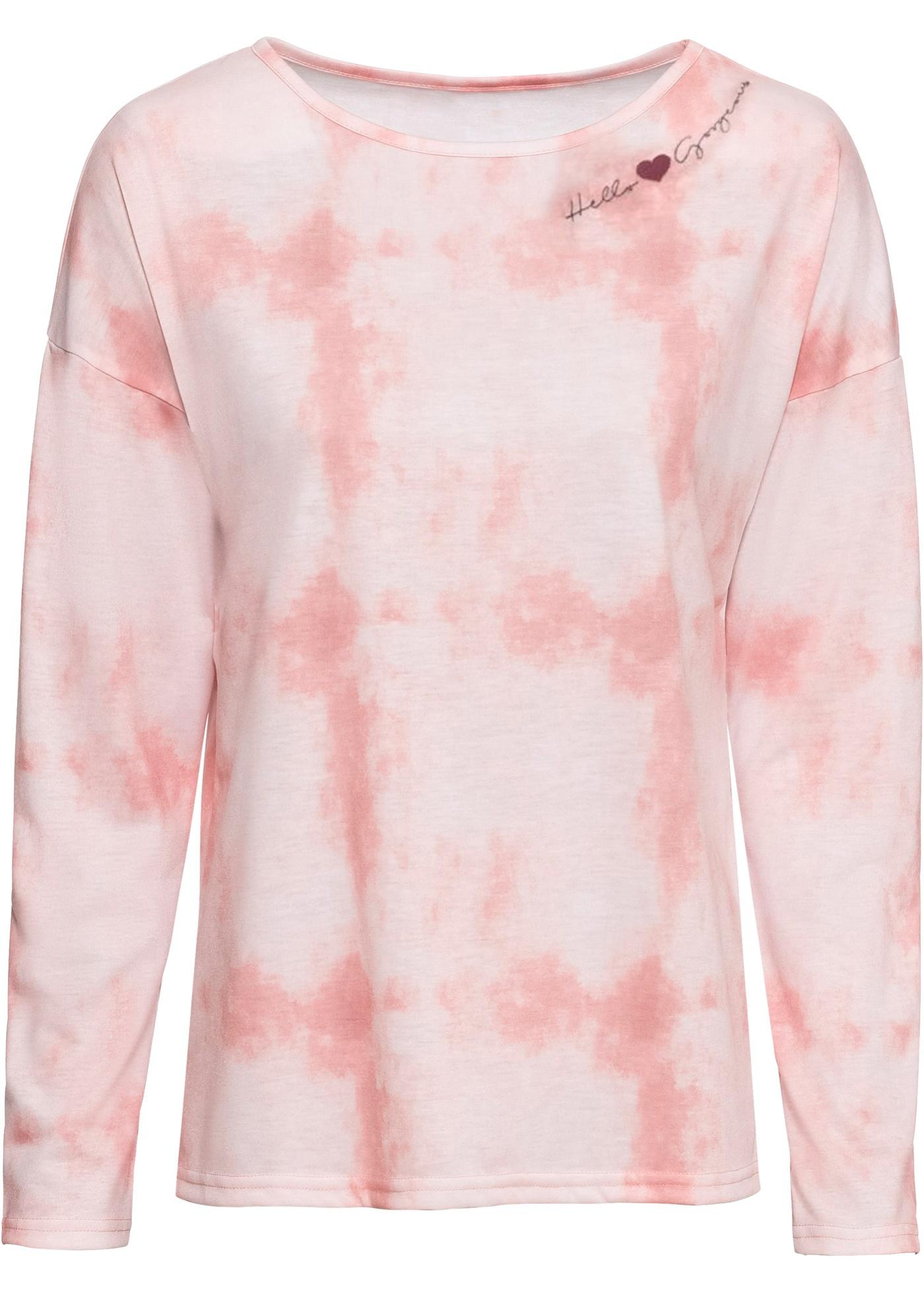 Femme Longues shirt Manches Rose Rainbow Pour Batik BonprixT Style rdxeCBo