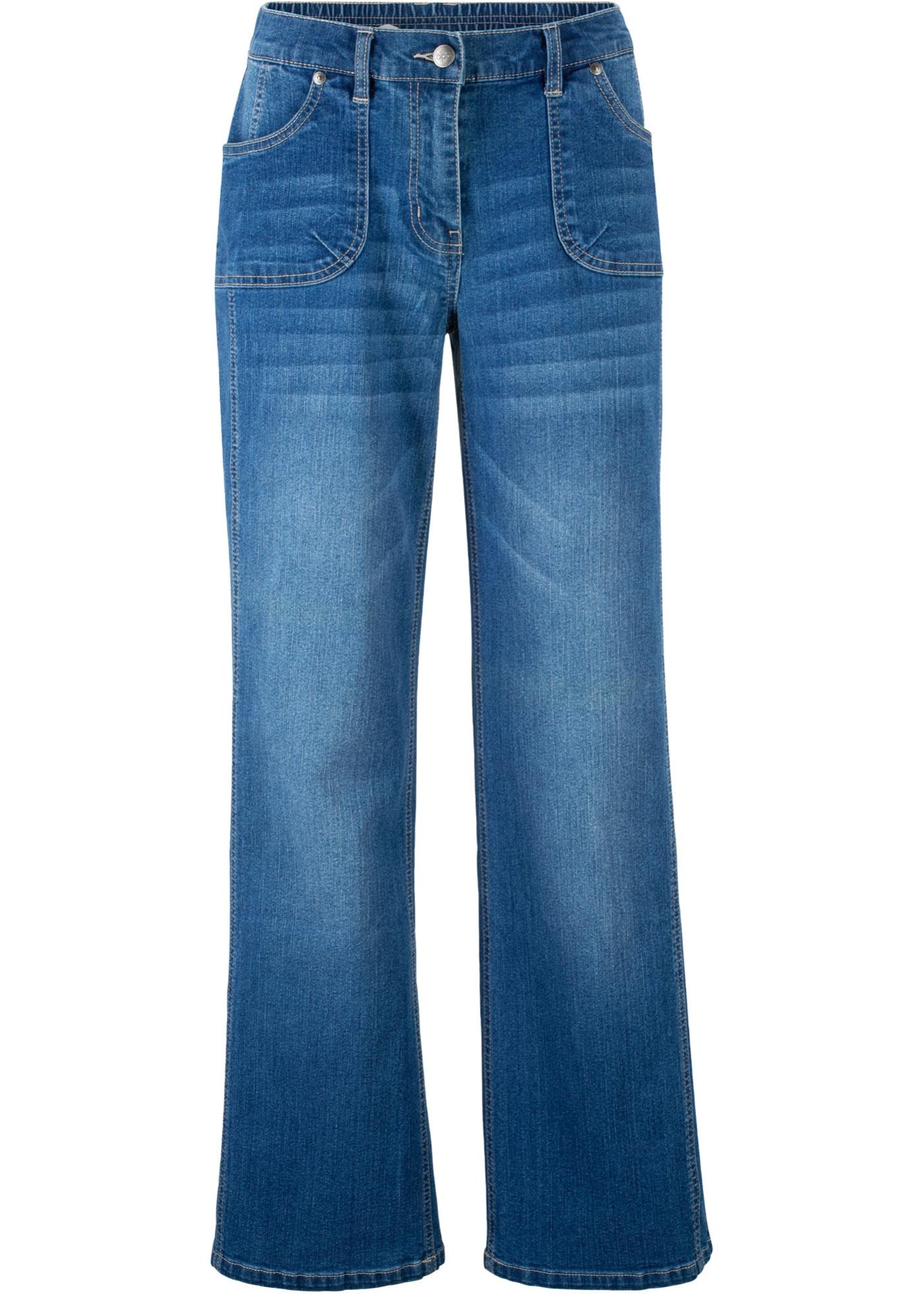 Femme Pour Extensible CollectionJean Bpc Bleu Bonprix Ample USzqMVp