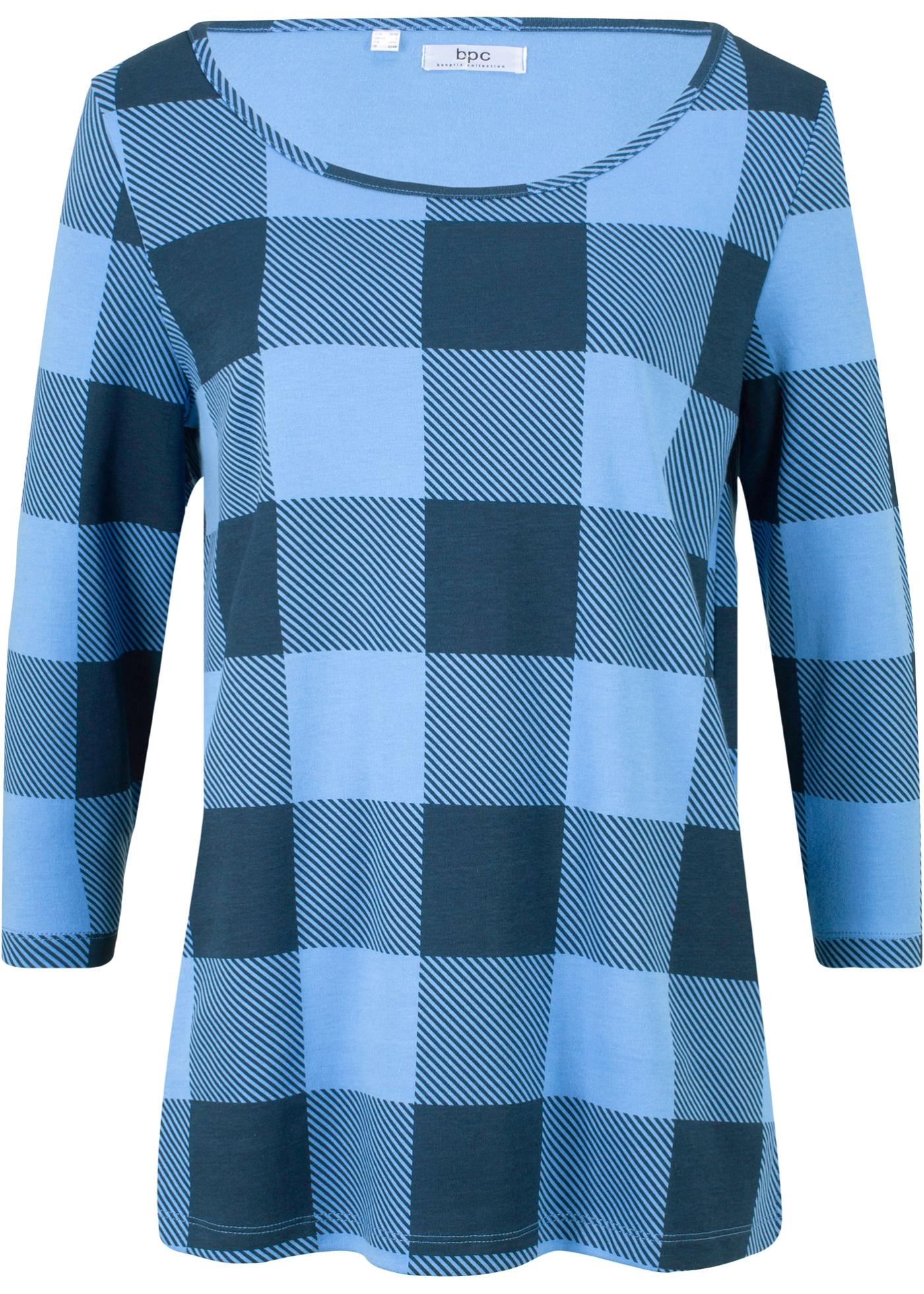 À Bpc Manches Pour Carreaux Bleu 3 Bonprix Femme 4 CollectionT shirt n0ON8XZwPk