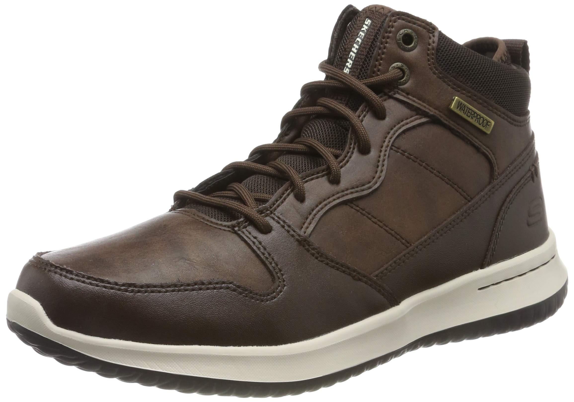 Classiques Homme Bottines Skechers marronchocolate Chocolate43 Eu DelsonBottesamp; Leather 53LR4Ajq