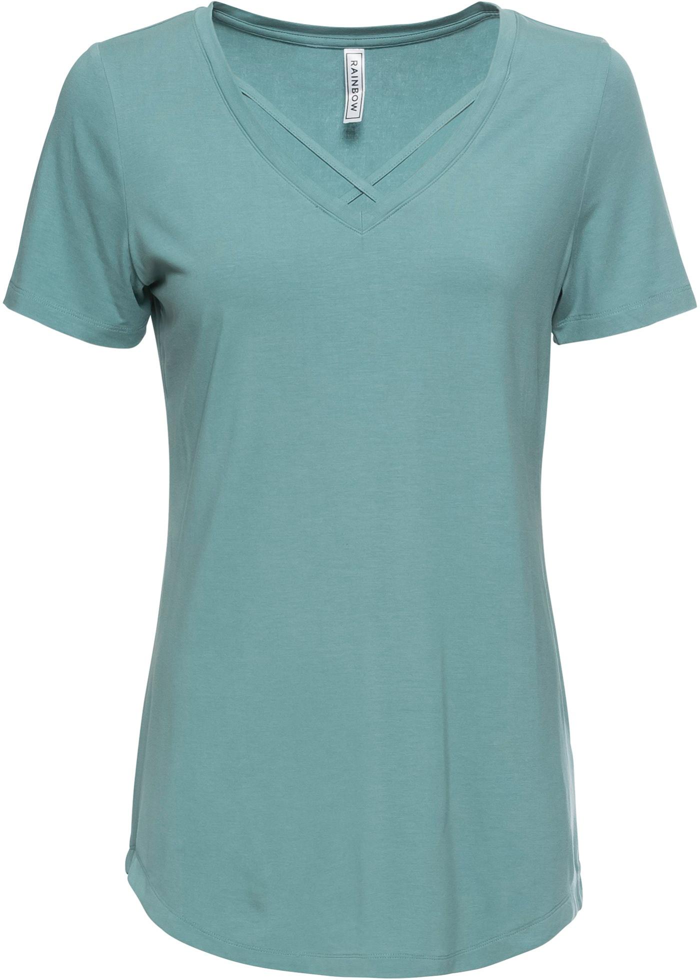 Femme Bleu Courtes Rainbow Manches shirts Pour BonprixT PvwOymnN80