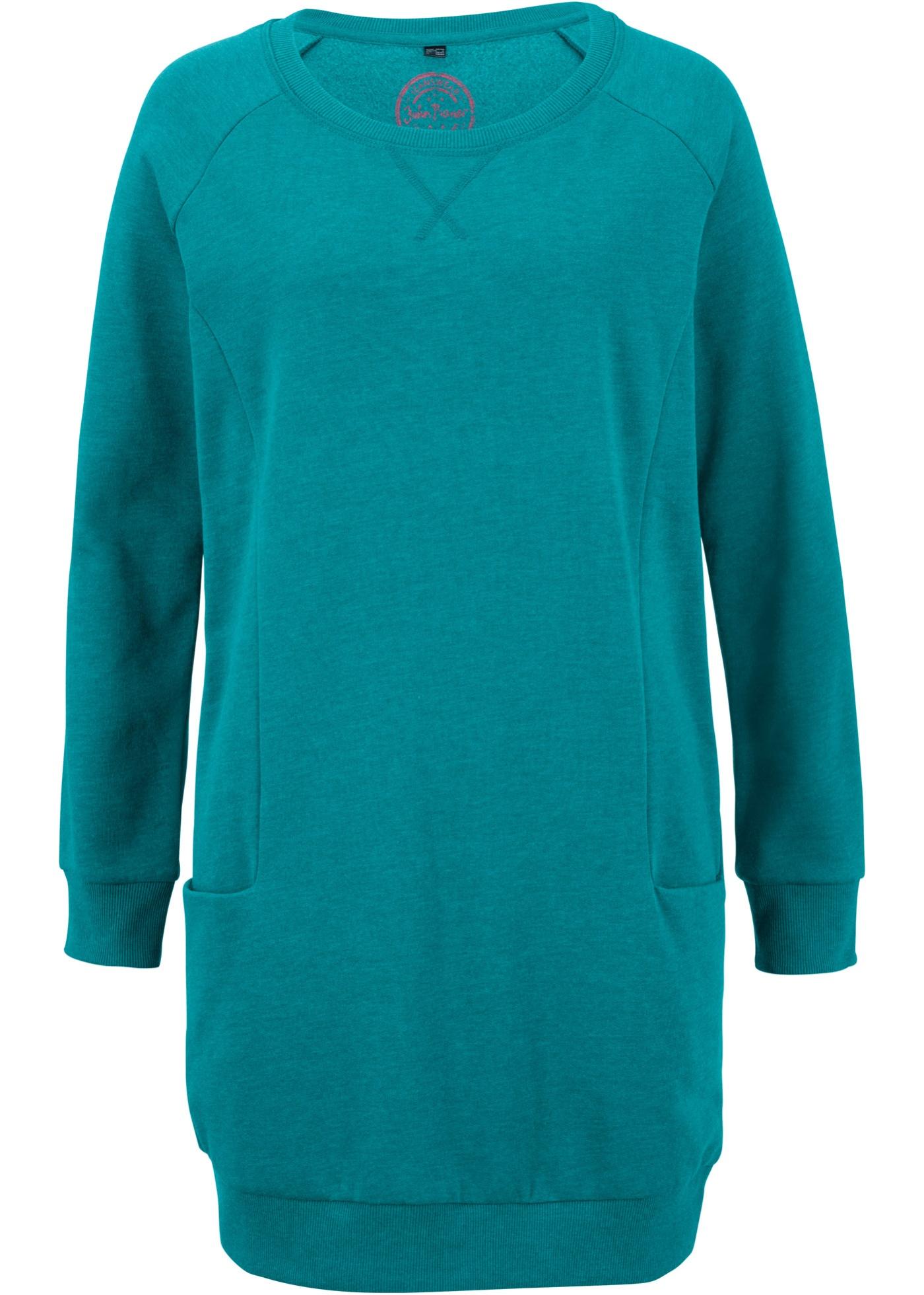Jeanswear BonprixRobe Sweat D'été shirtManches Femme Longues John Baner Bleu Pour wkiXZuOPT