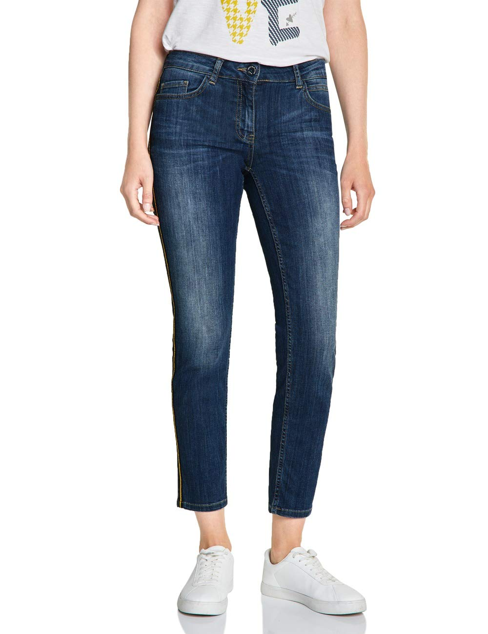 SlimMulticoloreauthentic 372454 1030144l28taille Blue Cecil Tight Jean Charlize Mid Fit Fabricant34Femme Wash VSzqMUpG