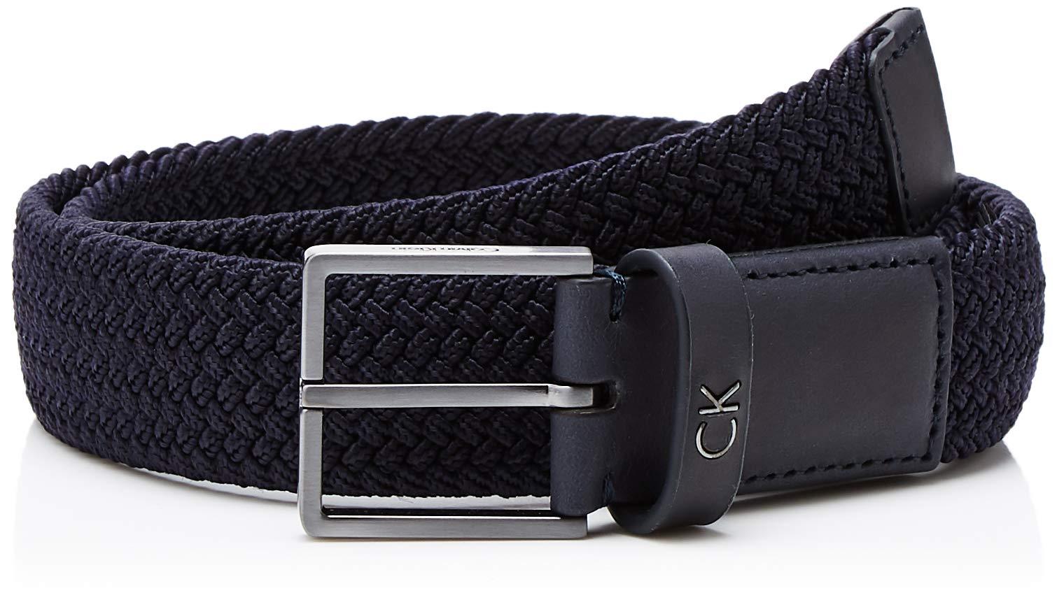 Calvin Elastic Fabricant80Homme Belt Formal 3 CeintureBleunavy 5cm Klein 41195taille CoWdxeQBEr