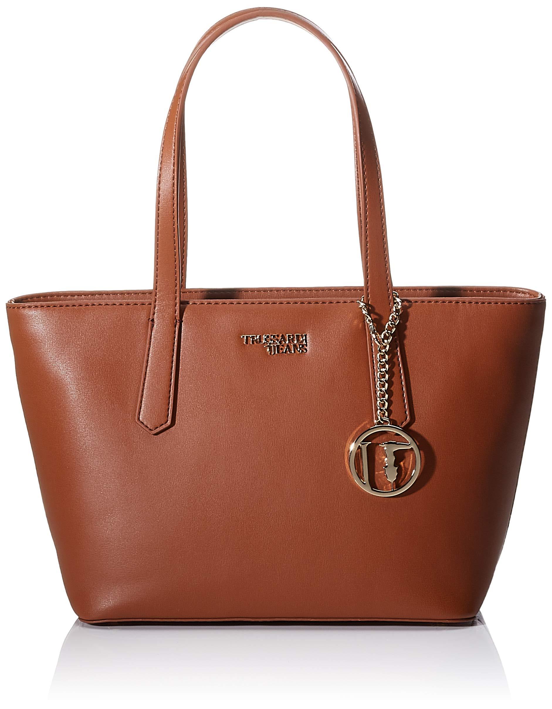 H Jeans Trussardi Saffiano Carry Sm X EcFemmeMarronleather13x22x28 Cmw Tote L Miss 6gY7bfy